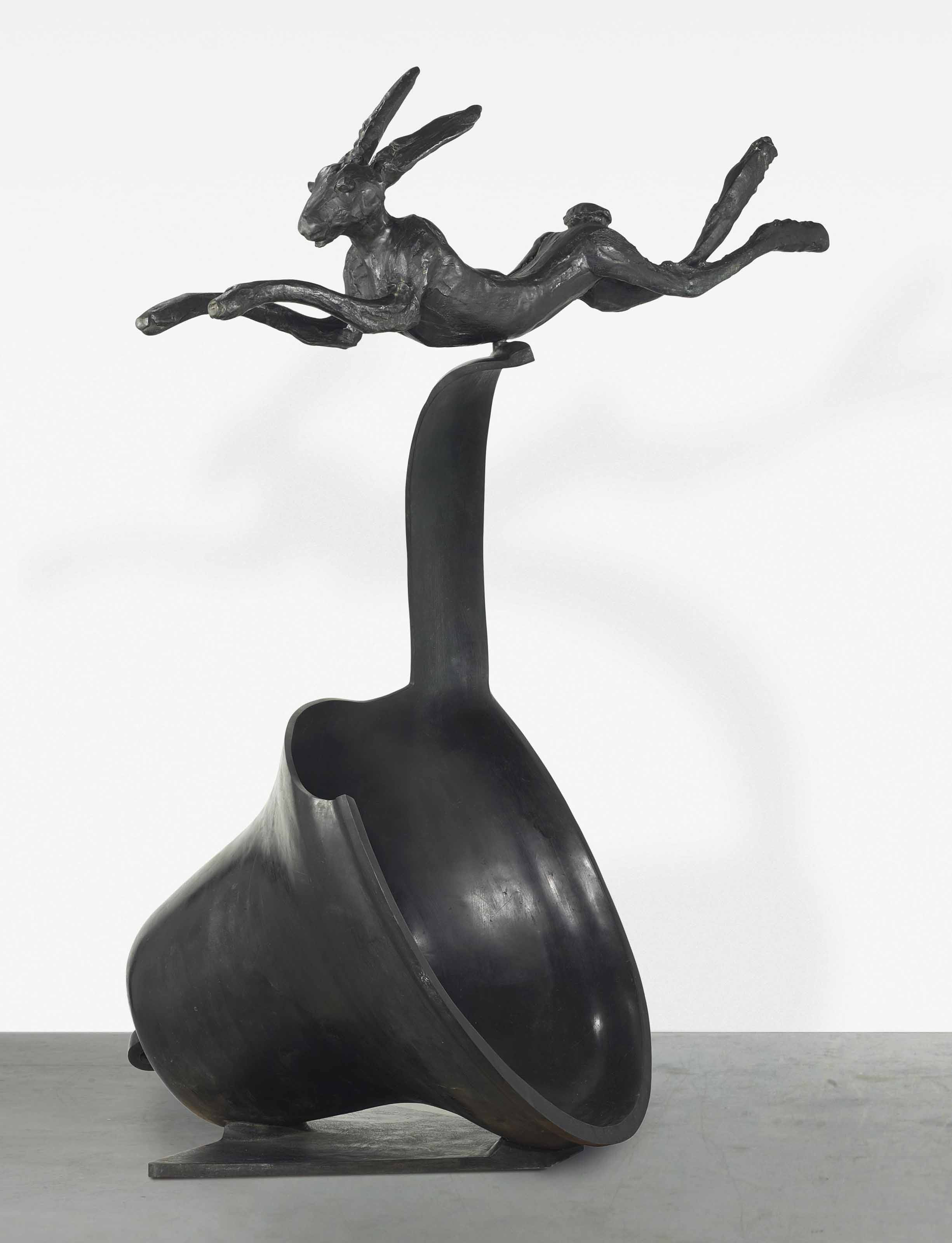 Leaping Hare on Curly Bell