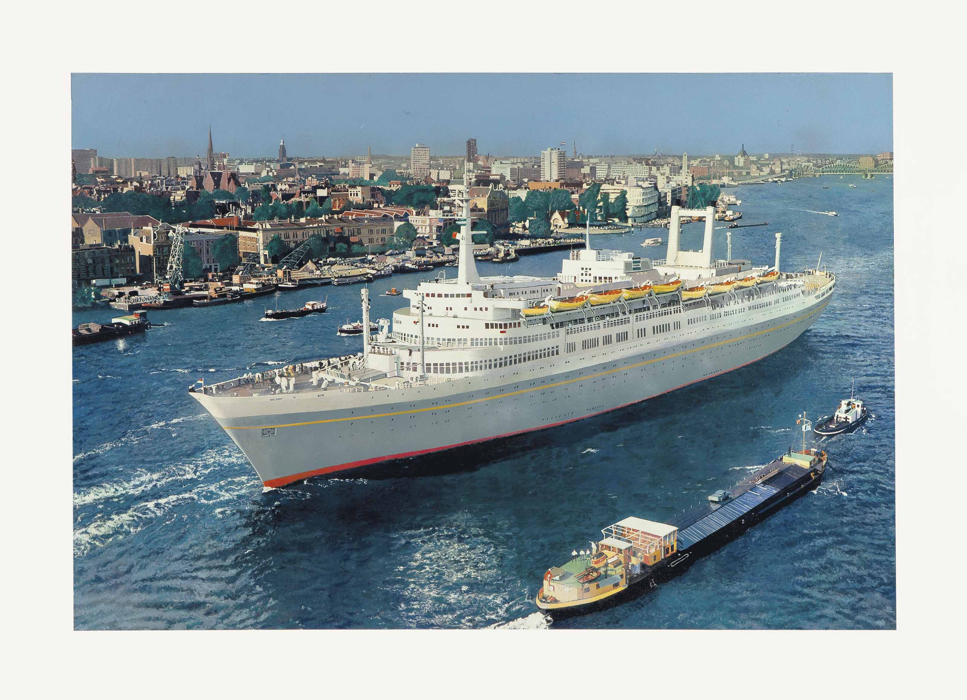 SS Amsterdam in Front of Rotterdam