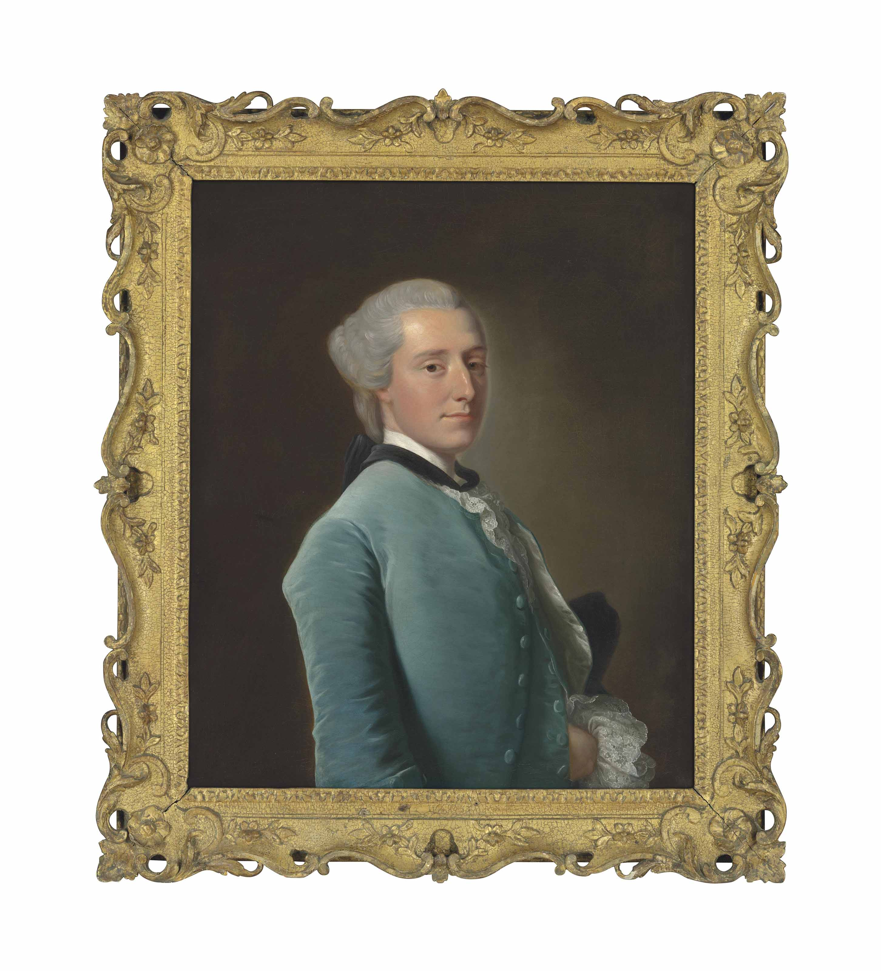 Portrait of Ralph Sneyd (1723-1793), half-length, in a blue velvet coat