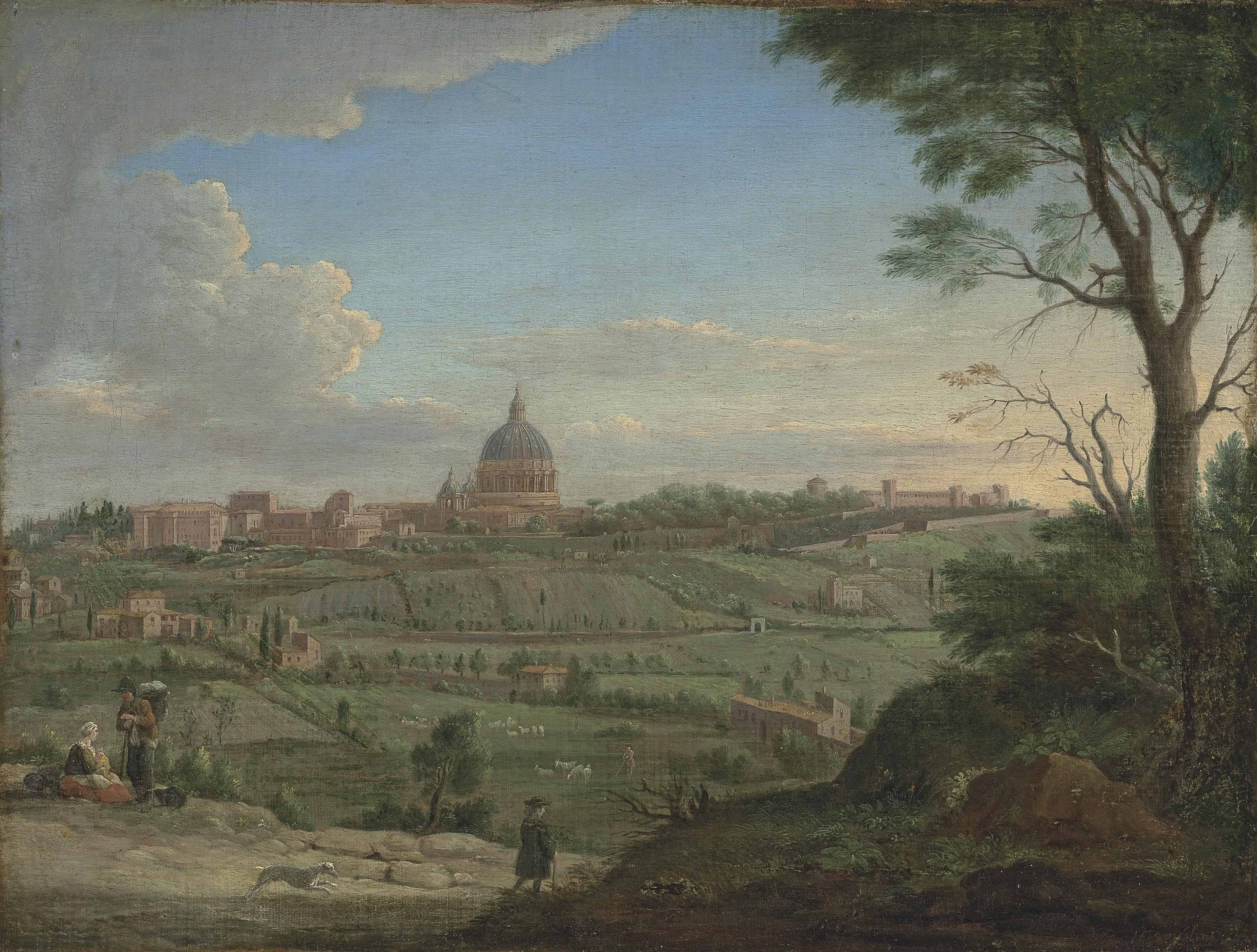Saint Peter's and the Vatican, Rome, from the North
