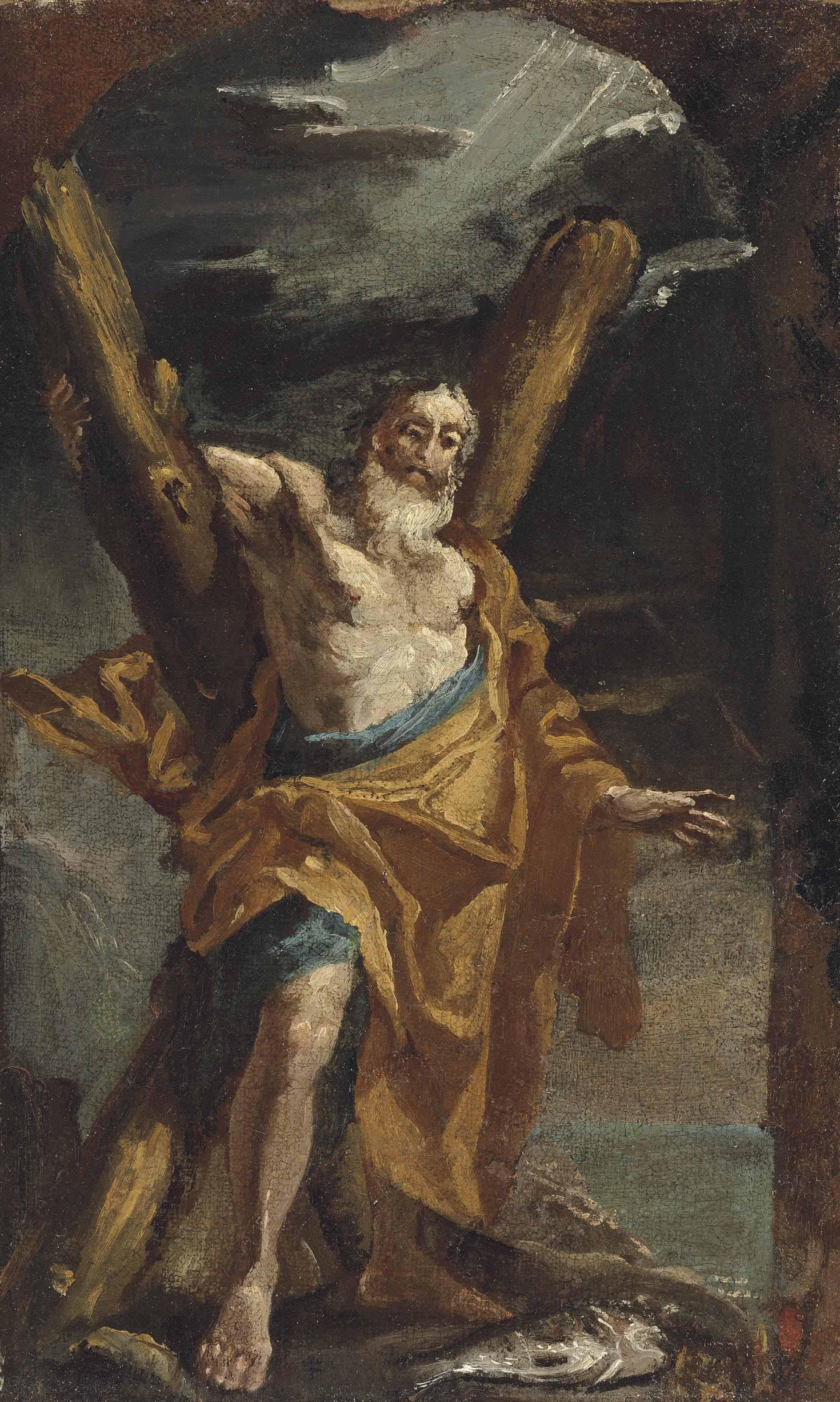 Saint Andrew - a bozzetto