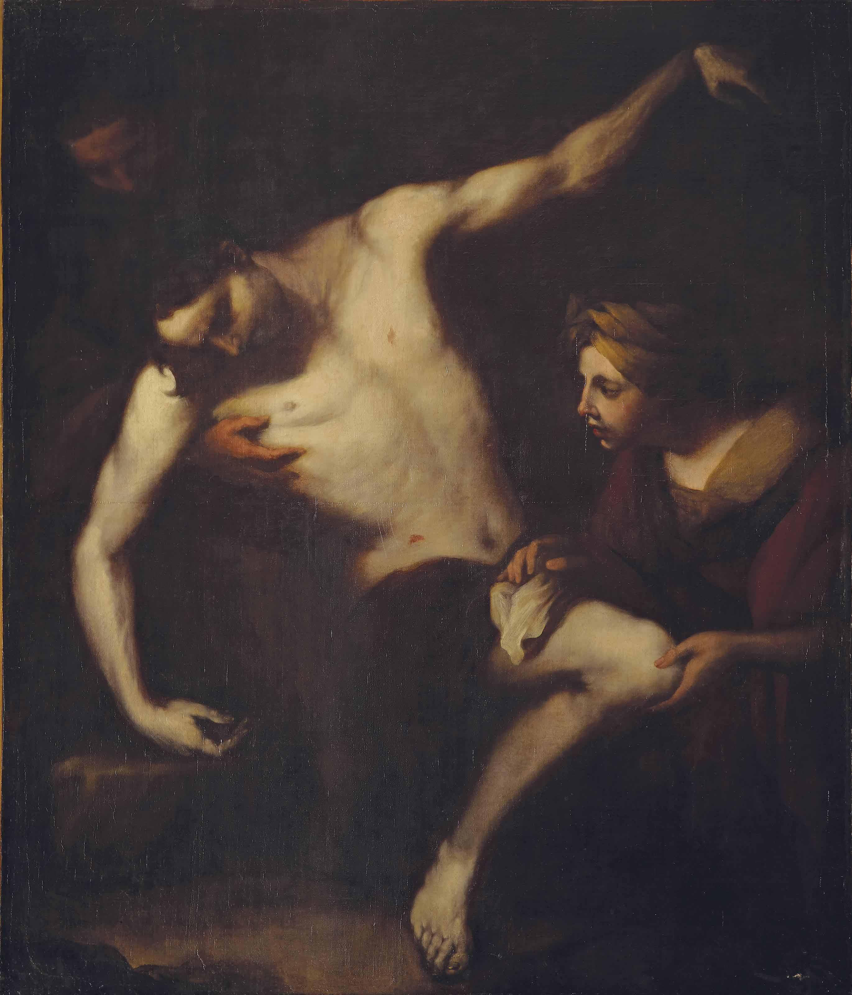 Saint Sebastian tended by Saint Irene