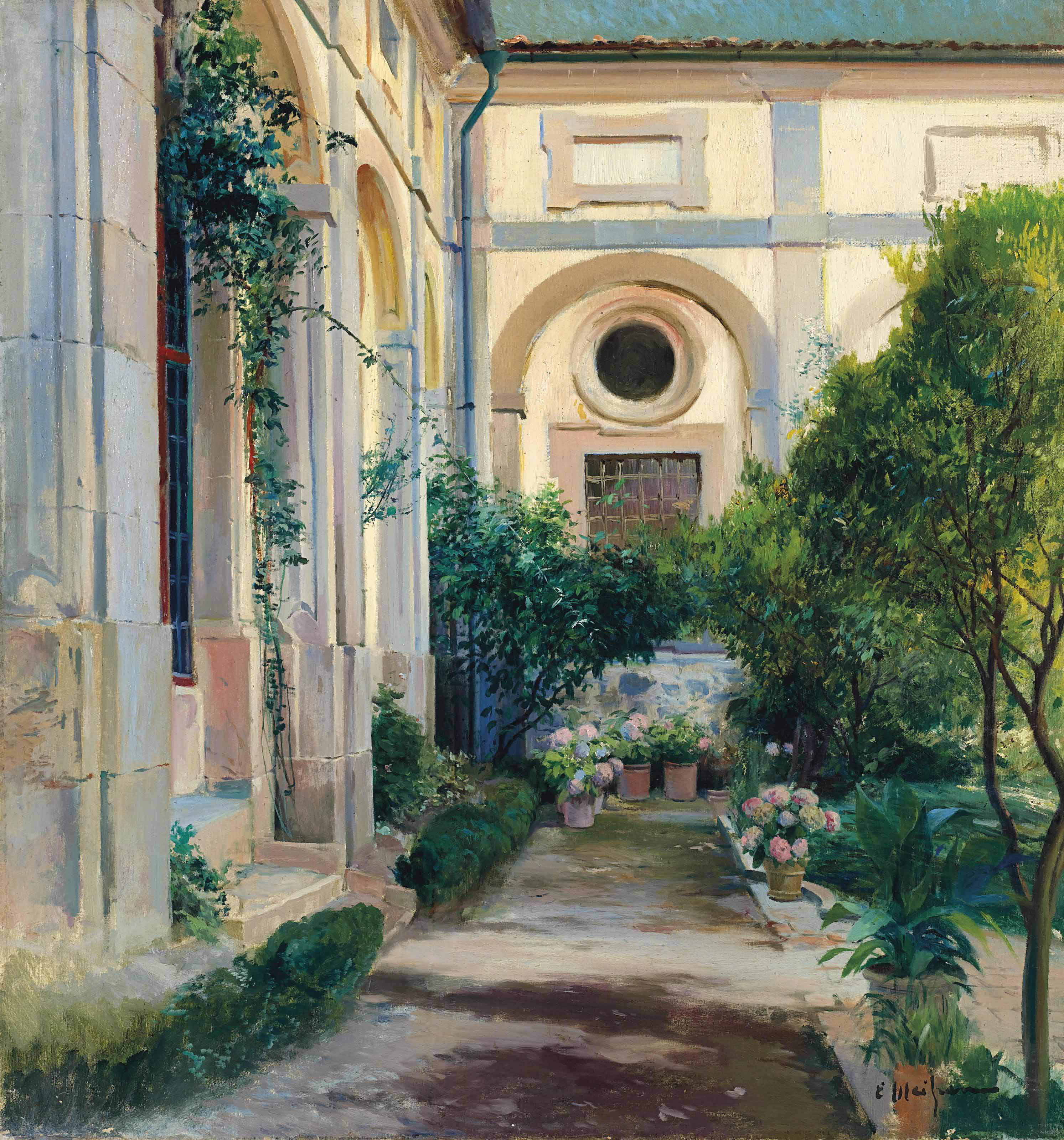 The courtyard garden