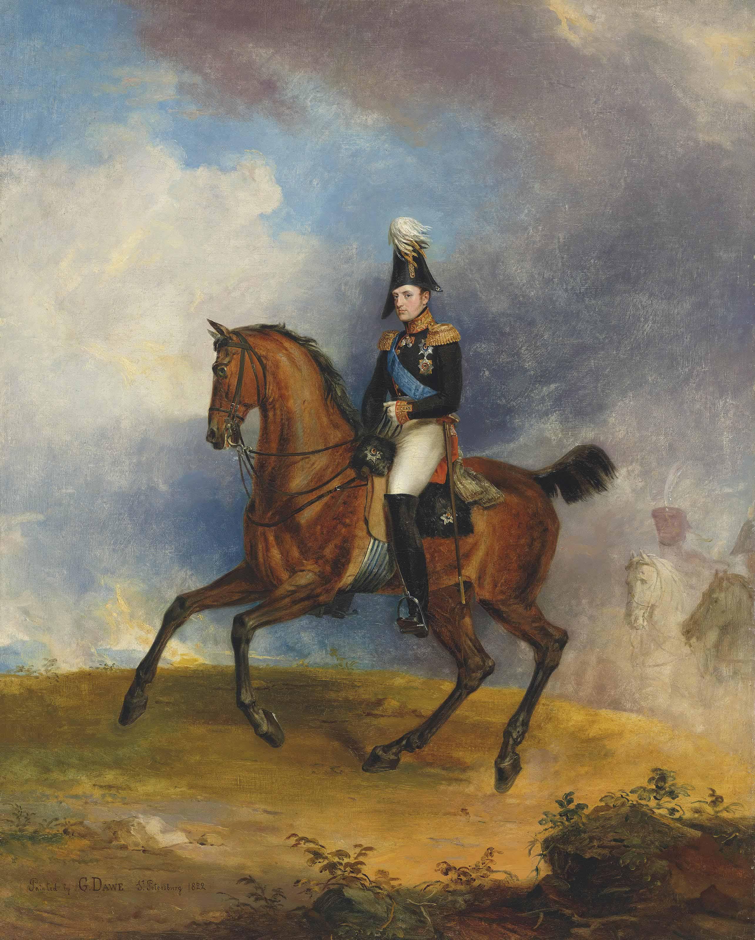 Portrait of Grand Duke Nicholas, later Emperor Nicholas I (1825-55), on horseback