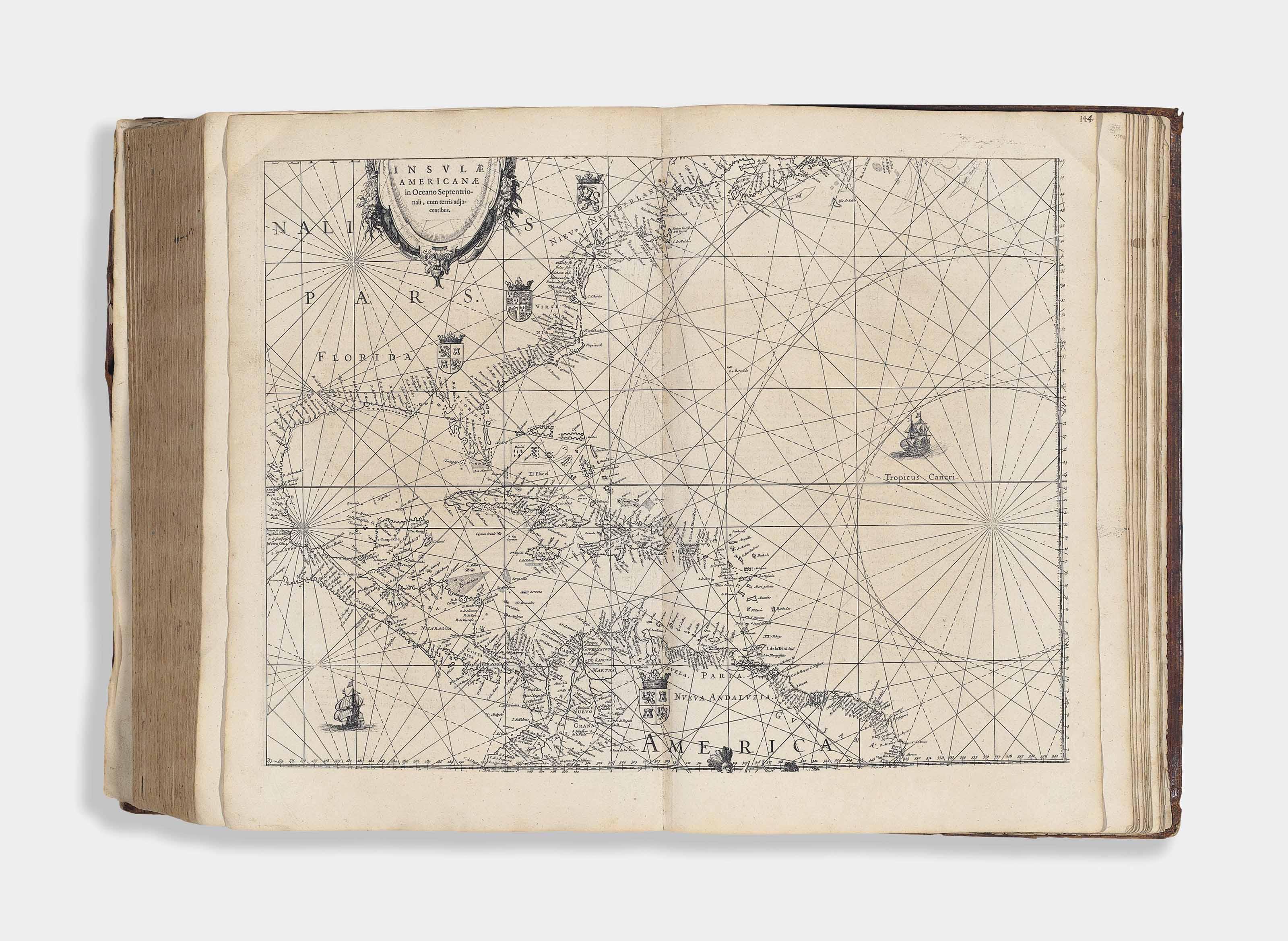 BLAEU, Willem (1571-1638) and Johan BLAEU (1596-1673). Novus Atlas, Das ist, Abbildung und Beschreibung von allen Ländern des Erdreichs. Gantz vernewt und verbessert. [Volume I: World and Continents, Northern and Eastern Europe.] Amsterdam: Willem Blaeu, 1634.