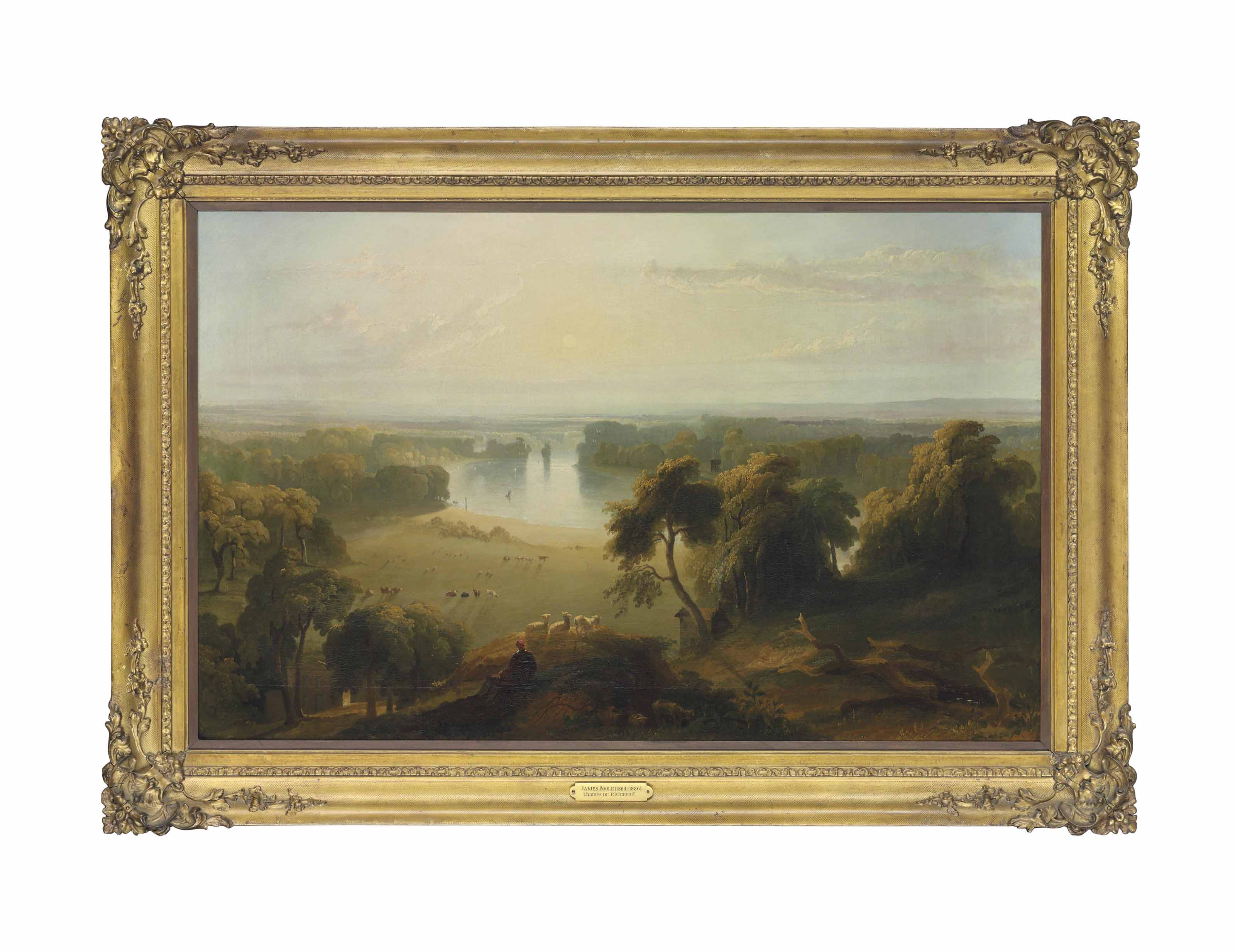 View of the Thames, from Richmond Hill, towards Ham