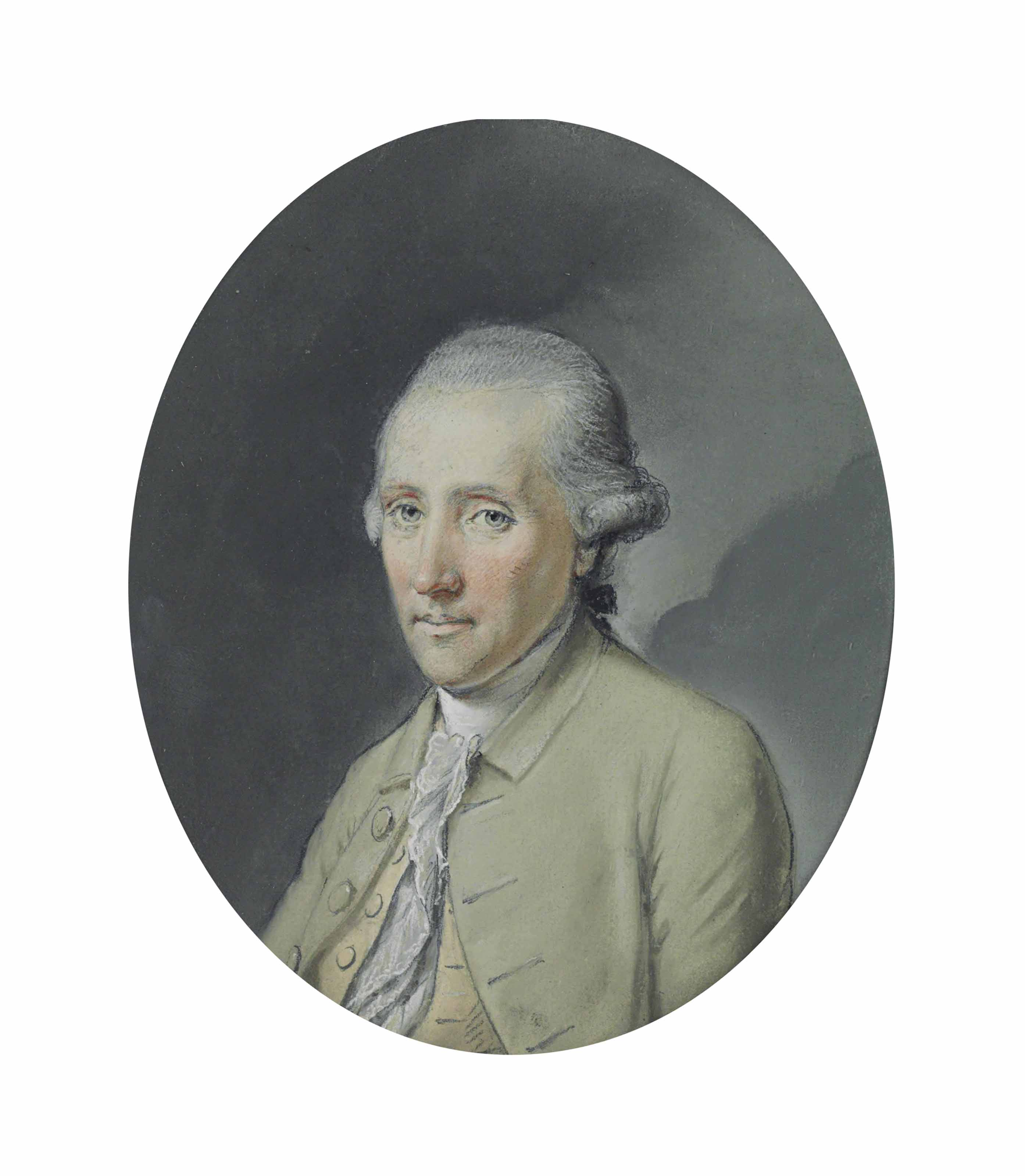 Portrait of Edward Stanley, 11th Earl of Derby, small half-length, in a pale green coat and white stock