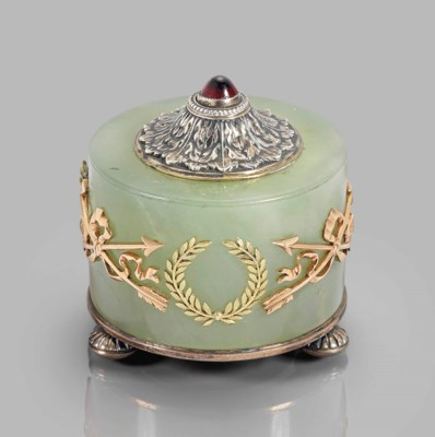 A FABERGE-STYLE GEM-SET TWO-CO