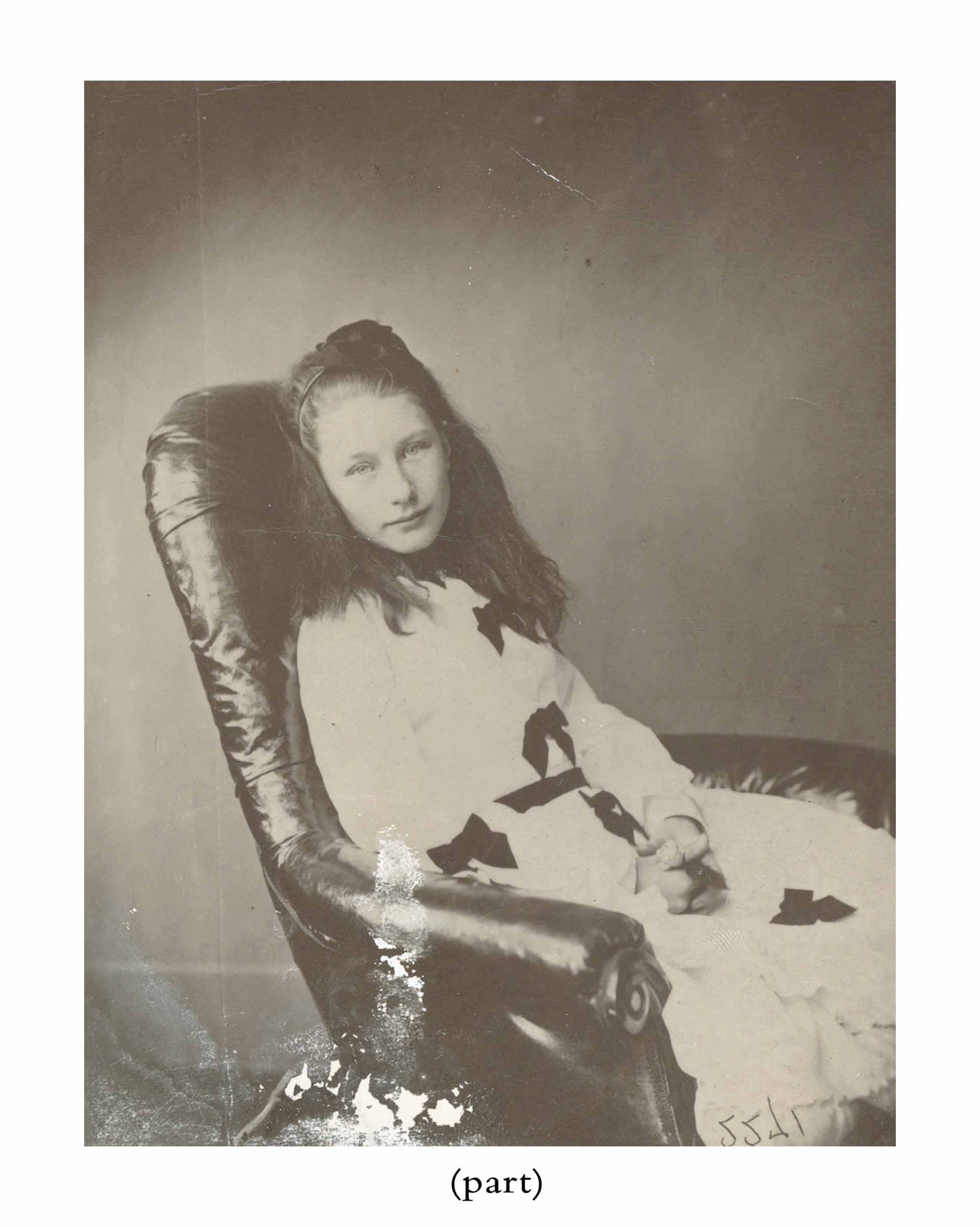 DODGSON, Charles Lutwidge ('Lewis Carroll', 1832-1898). Three photographs, of Minnie, Ella, and Emmie Drury, c. 1874, albumen prints, 143 x 100mm (some blanching to the bottom of the images of Minnie and Emmie), framed;