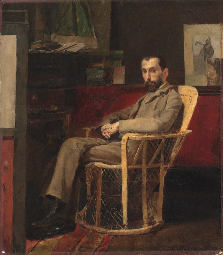 Thomas (Tom) William Roberts (1856-1931), Portrait of Louis Abrahams. 16 x 14 in (40.6 x 35.6 cm). Sold for £314,500 on 24 September 2015  at Christie's in London