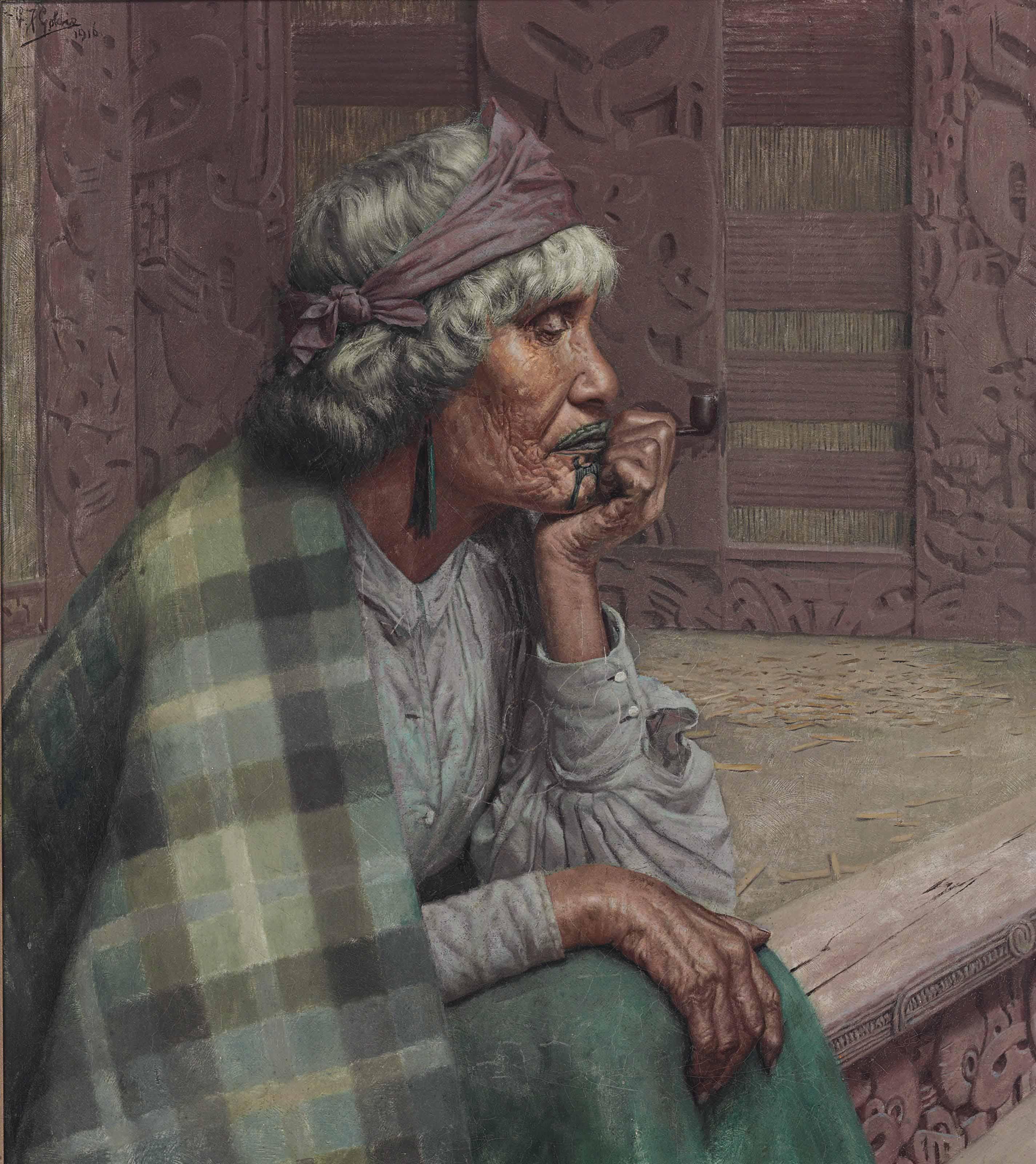 Reverie, Ena te Papatahi, a Ngapuhi Chieftainess (Ina Te Papatahi, Nga Puhi)