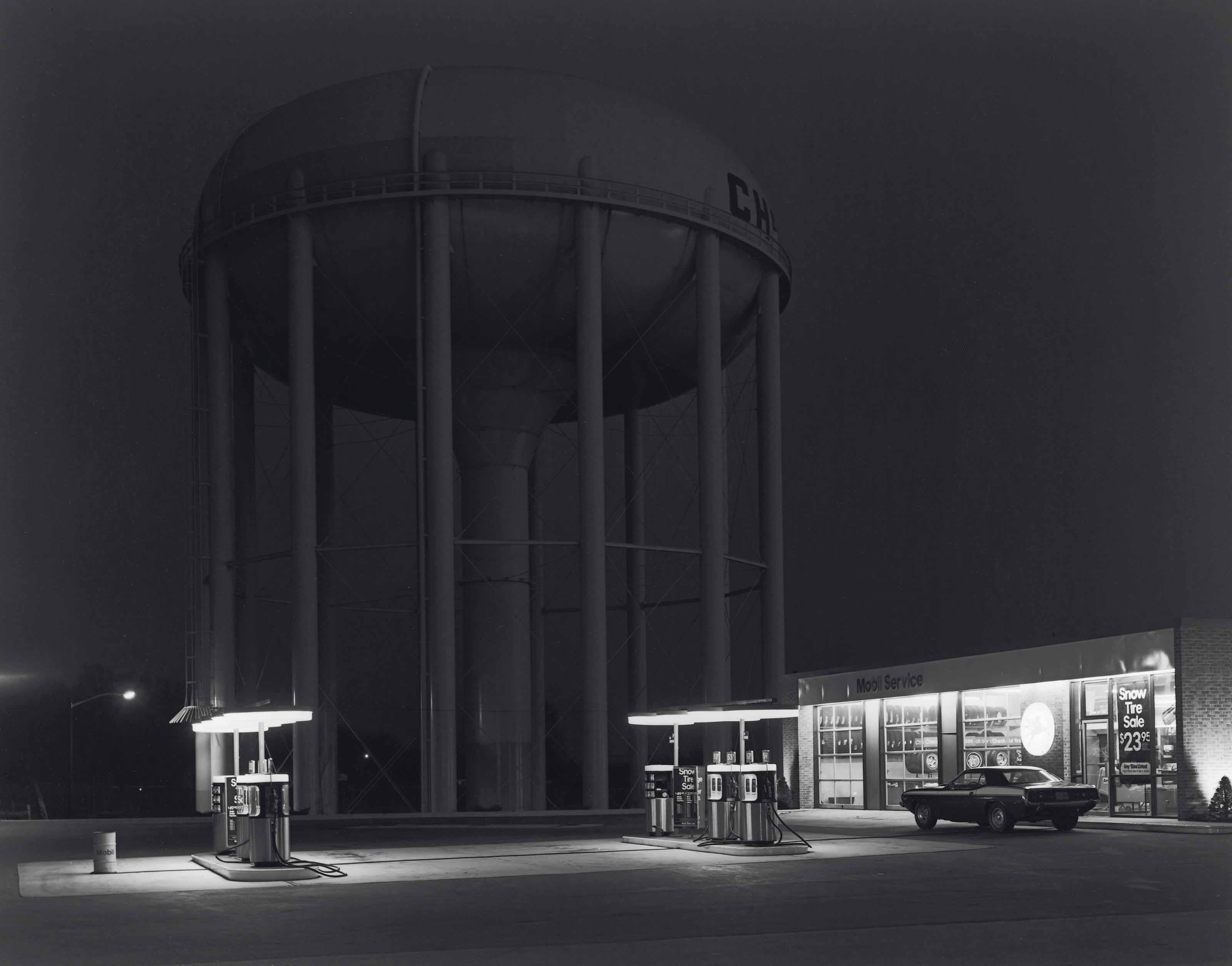 Petit's Mobil Gas Station, Cherry Hill, New Jersey, 1974