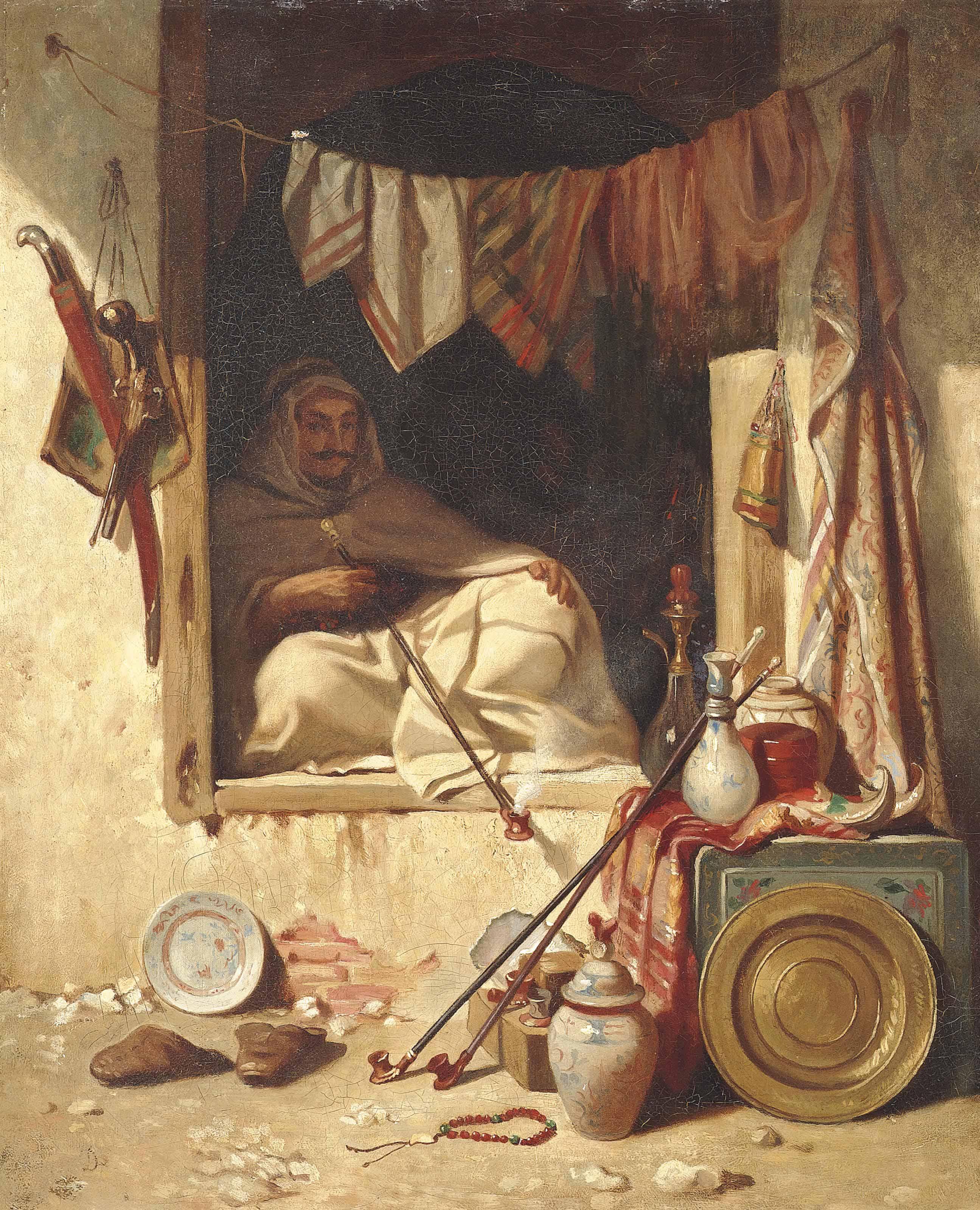 A seated Algerian