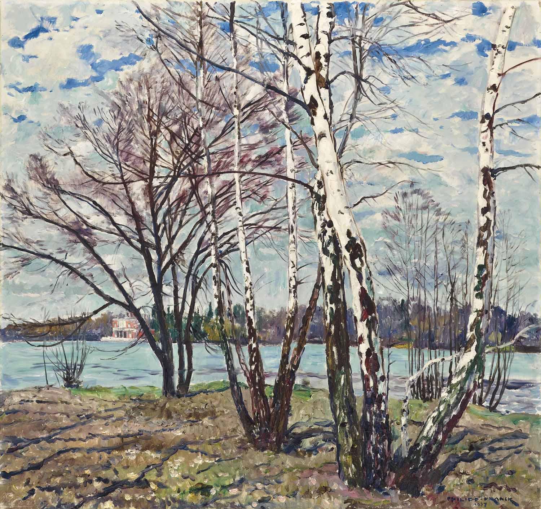 Birken im Neuen Garten, Vorfrühling