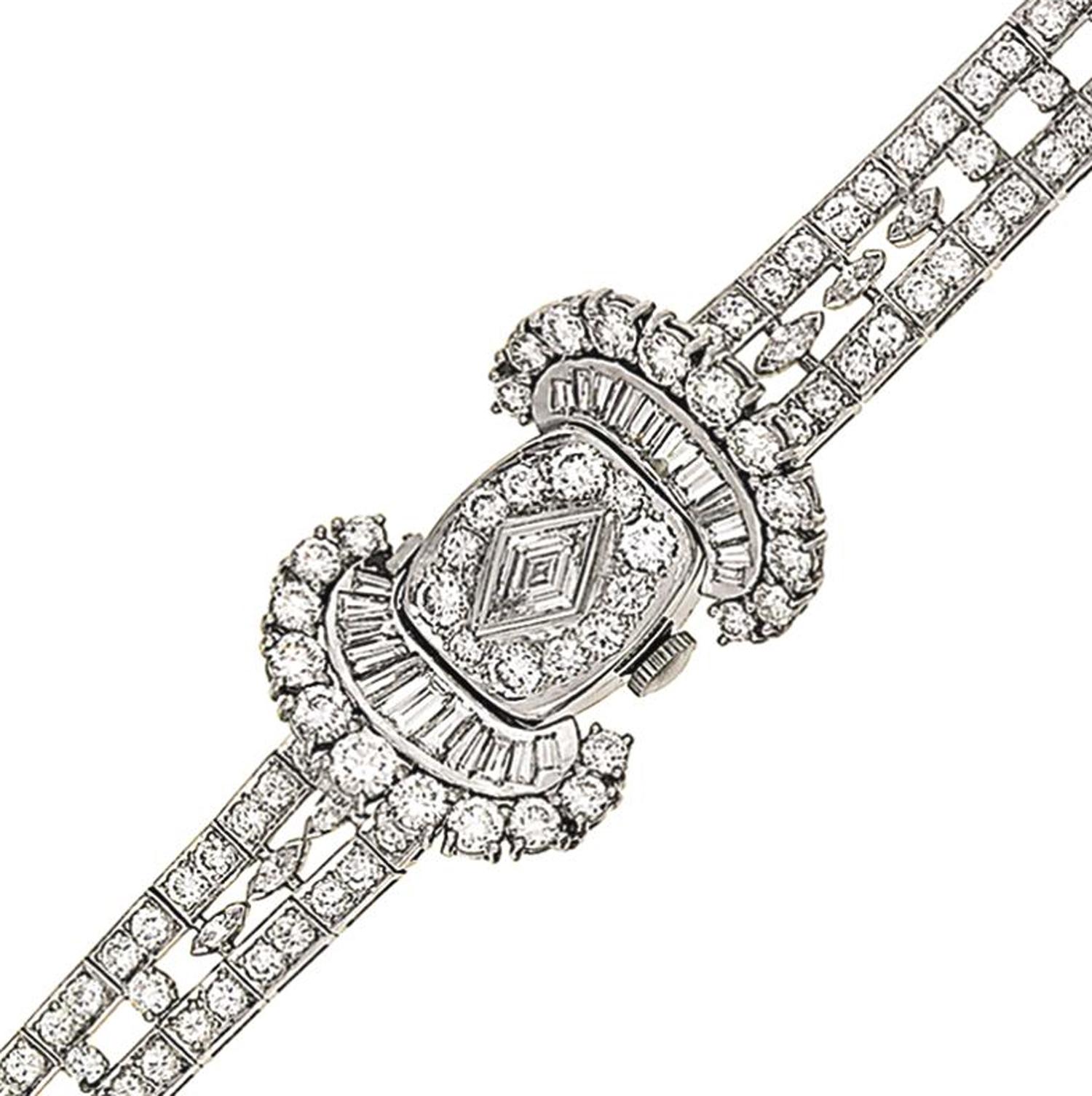 A lady's diamond cocktail watch, by Hamilton & Co