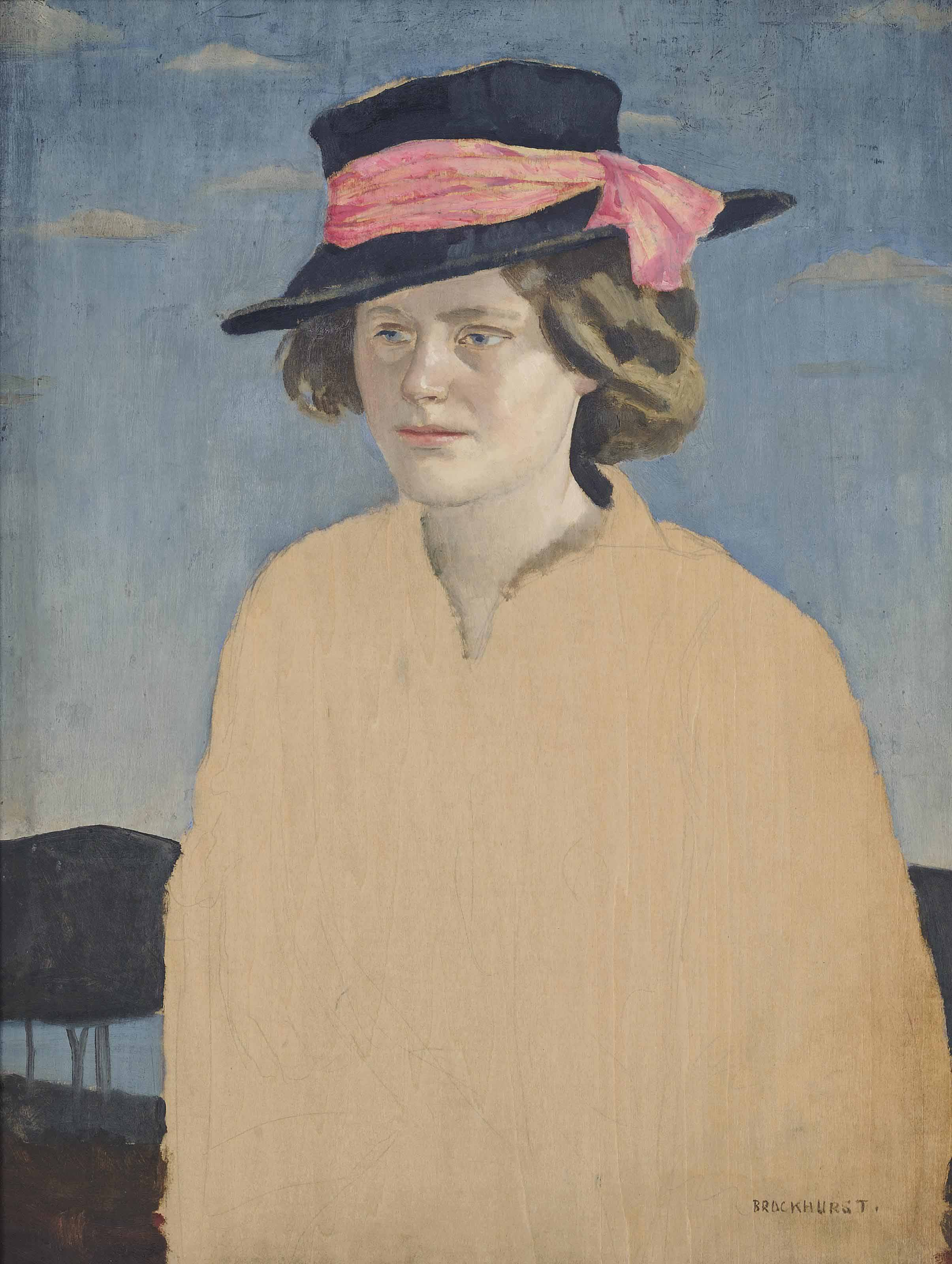 Young lady wearing a hat