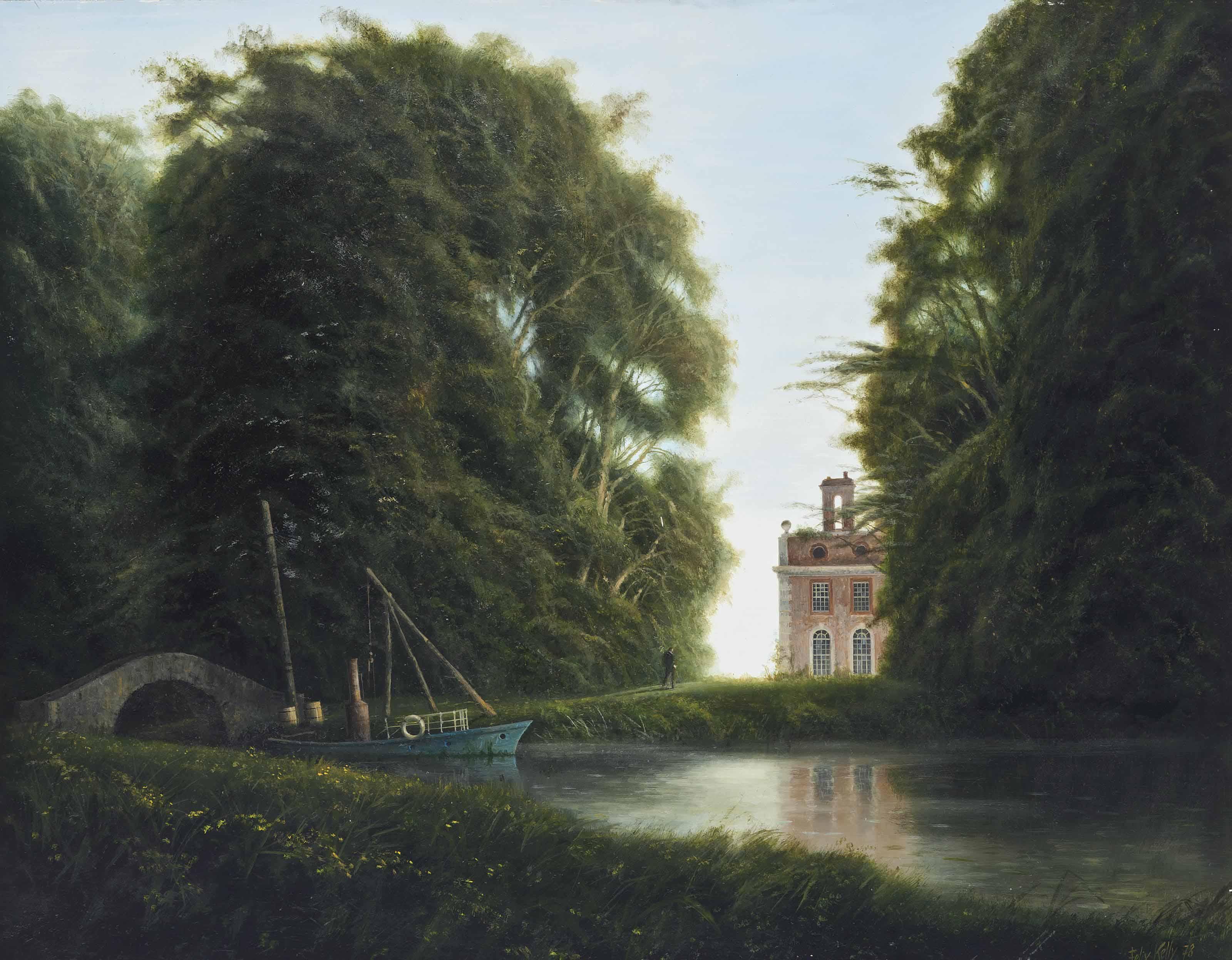 Canal through the park