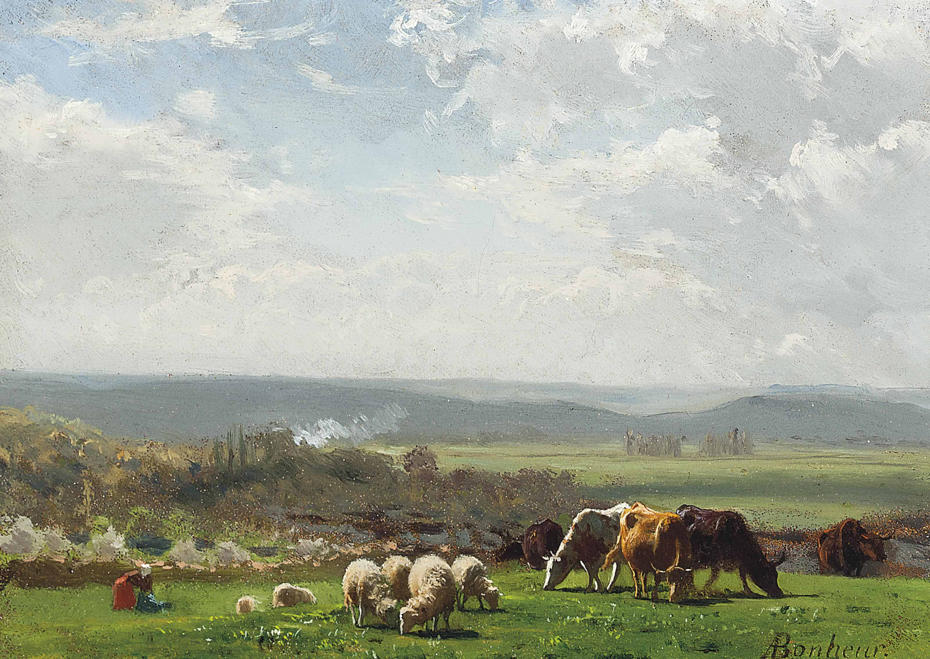 Pâturage en Auvergne