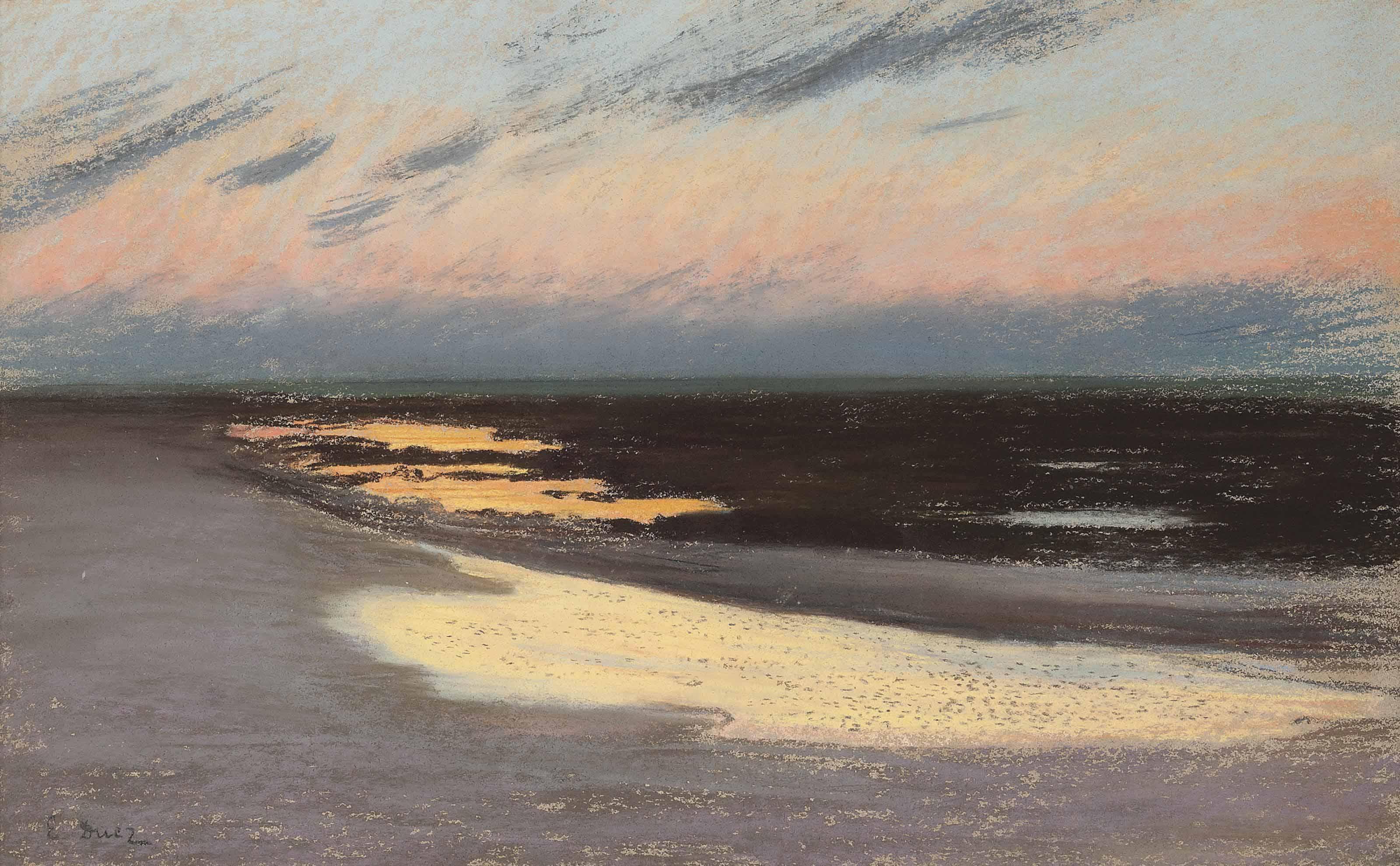 Crépuscule sur la plage
