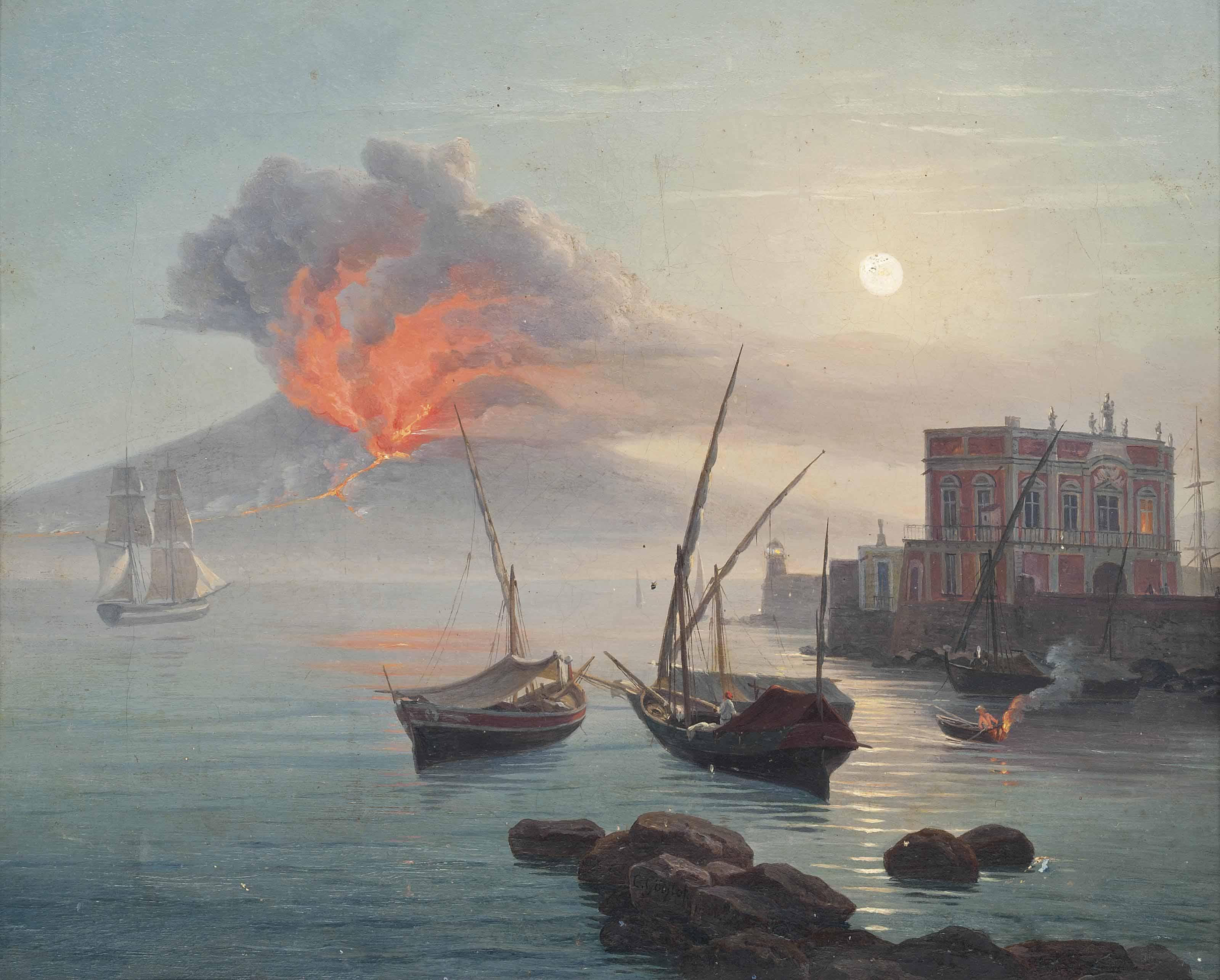 The eruption of Vesuvius, 1 May 1855