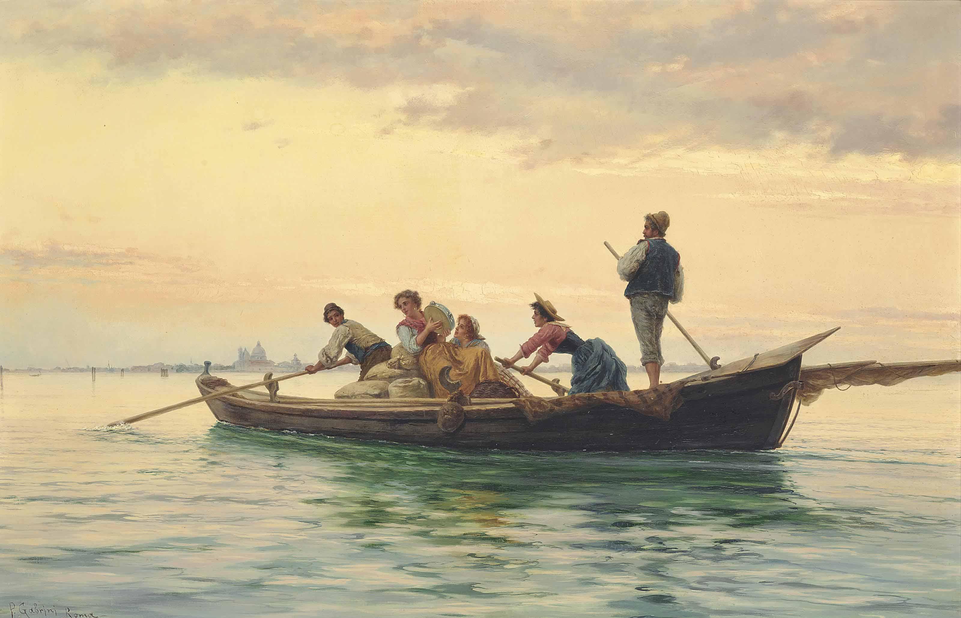 Music making on the Venetian lagoon