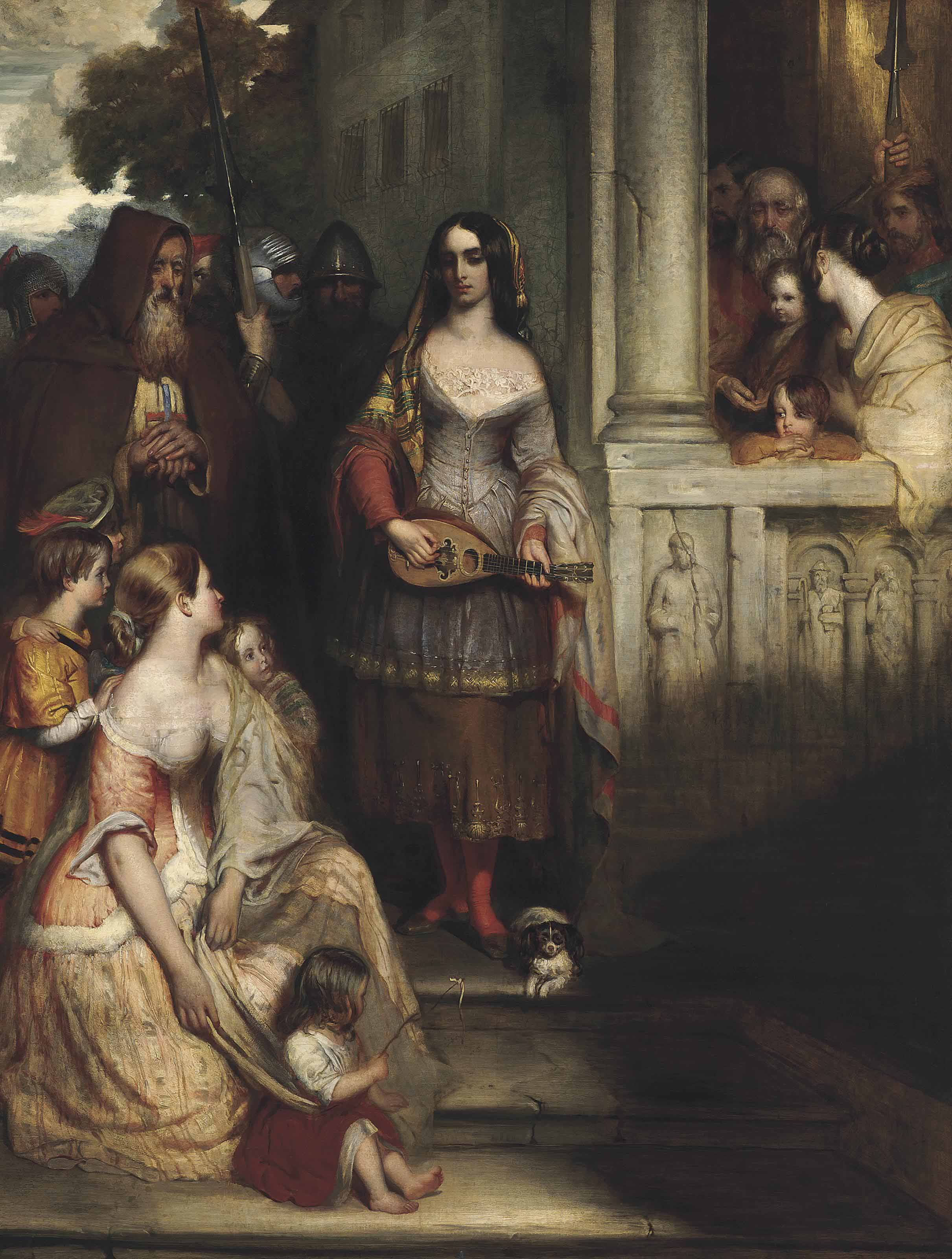 Poor Louise, the Gleemaiden: an illustration from Sir Walter Scott's 'Fair Maid of Perth'