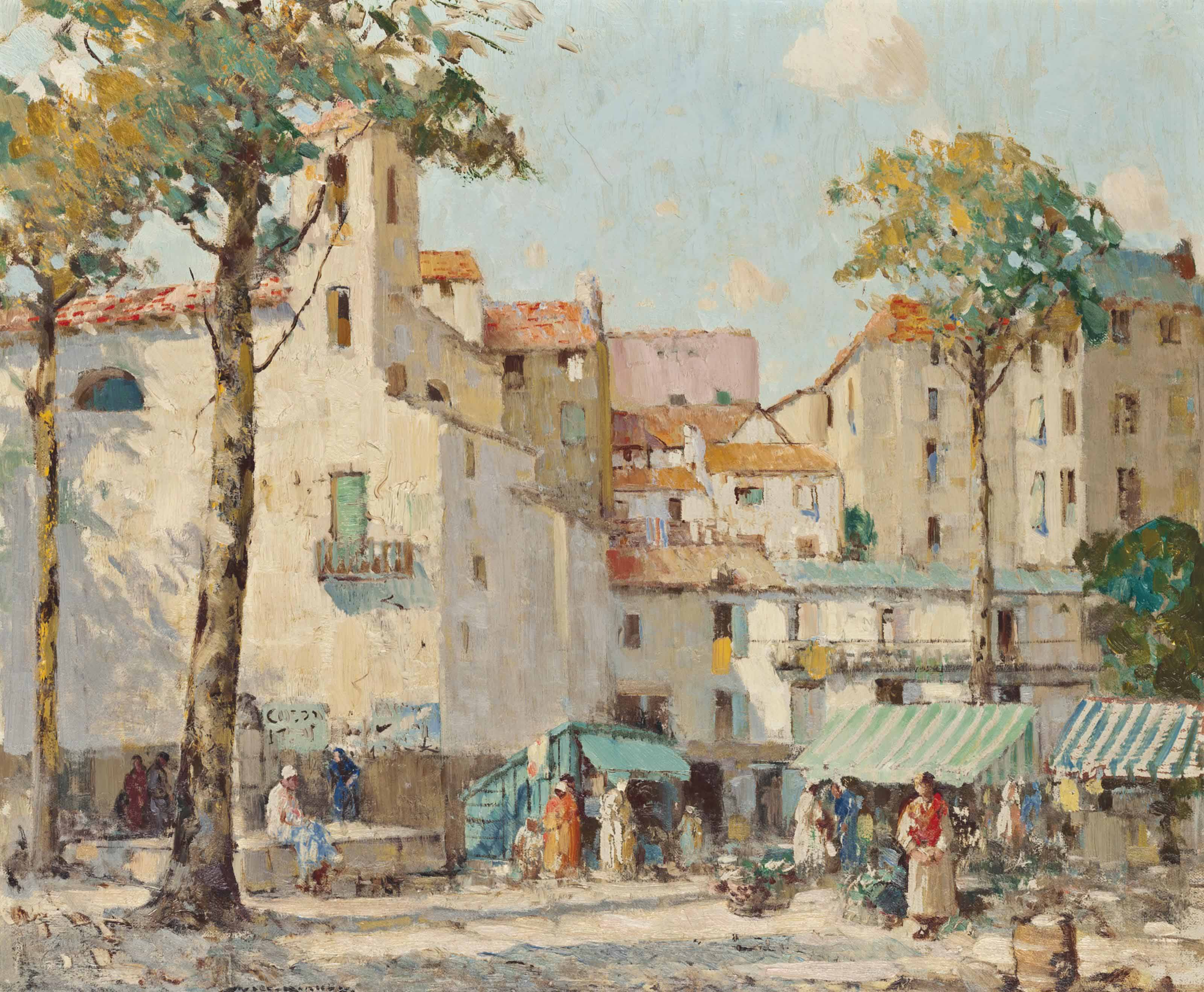 Market day, San Remo, Italy