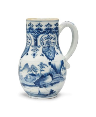 A CHINESE BLUE AND WHITE TANKA