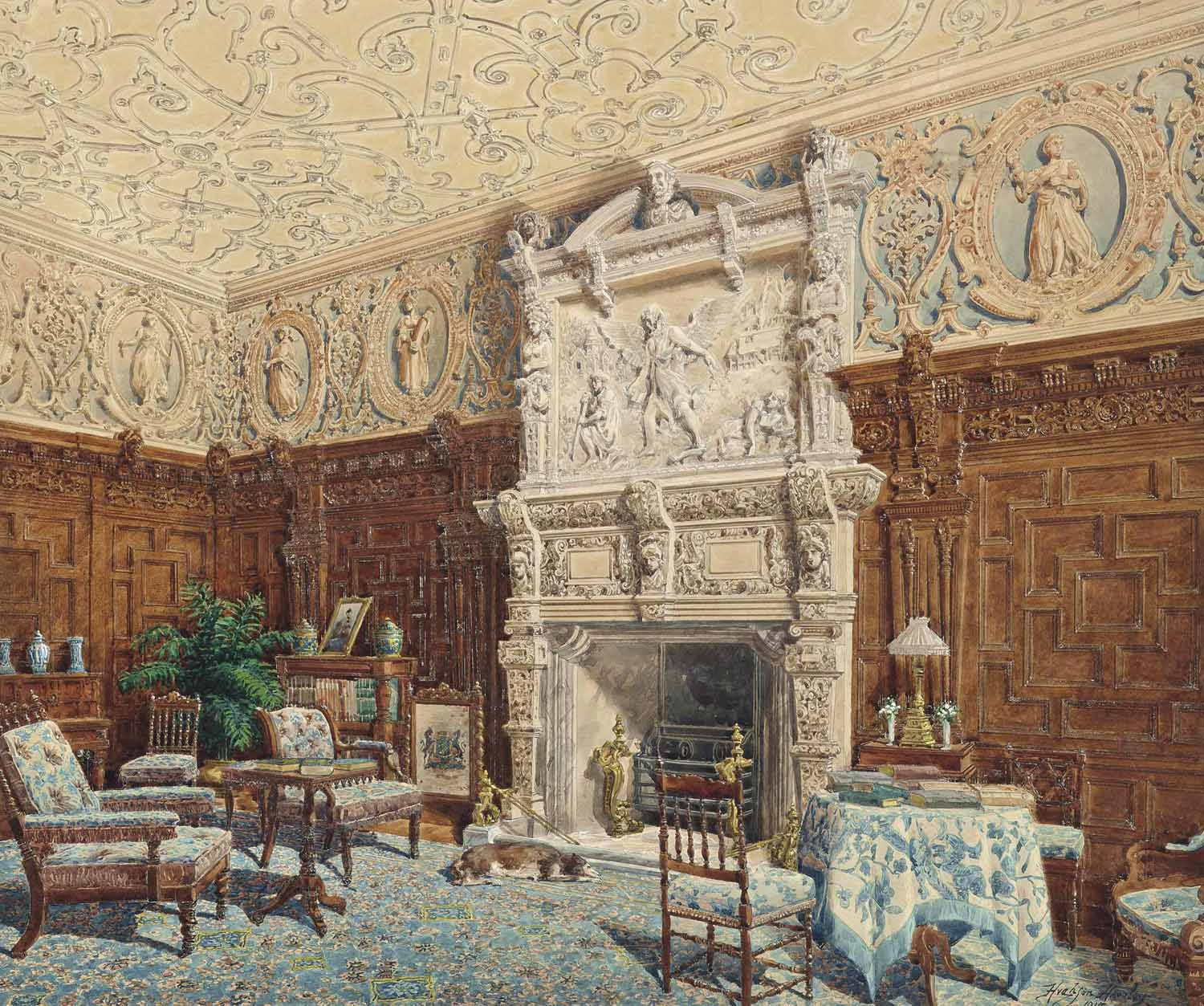 The Carved Parlour, Crewe Hall, Cheshire
