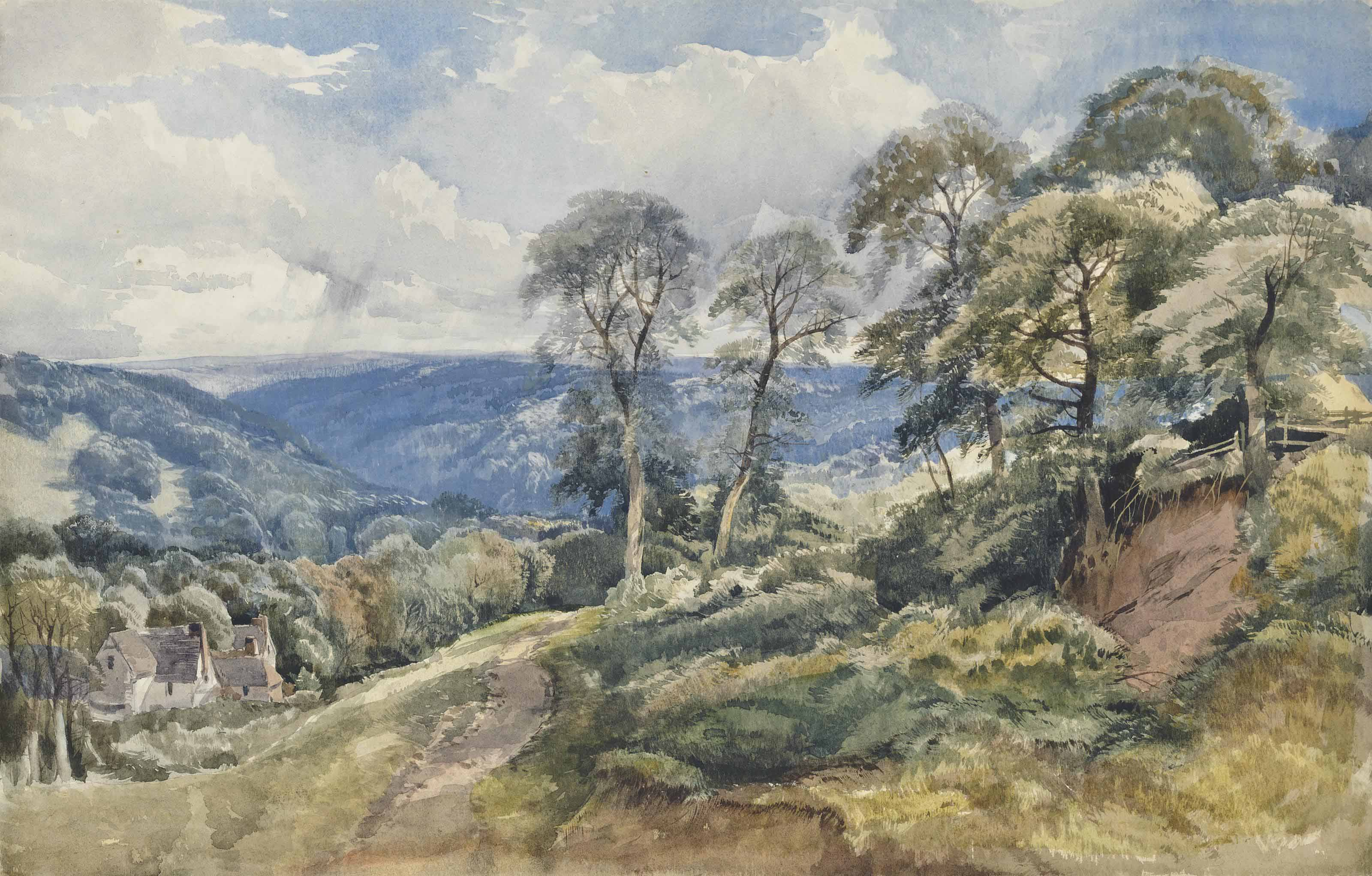 Ivybridge, Devon; Buckhurst Farm, Sussex; and A wooded landscape