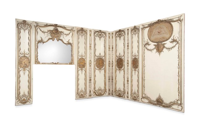A SET OF FRENCH PARCEL-GILT AN