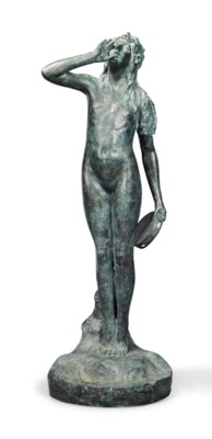 A LARGE AMERICAN BRONZE FIGURE