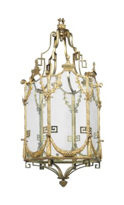A LARGE FRENCH GILT-BRONZE AND