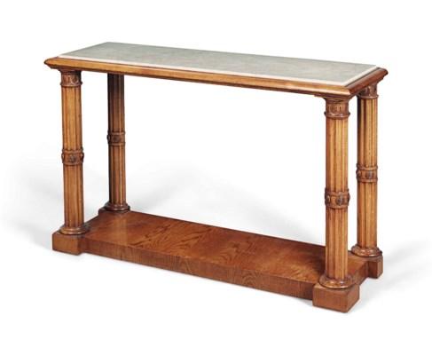 AN OAK 'BECKFORD' CONSOLE TABL