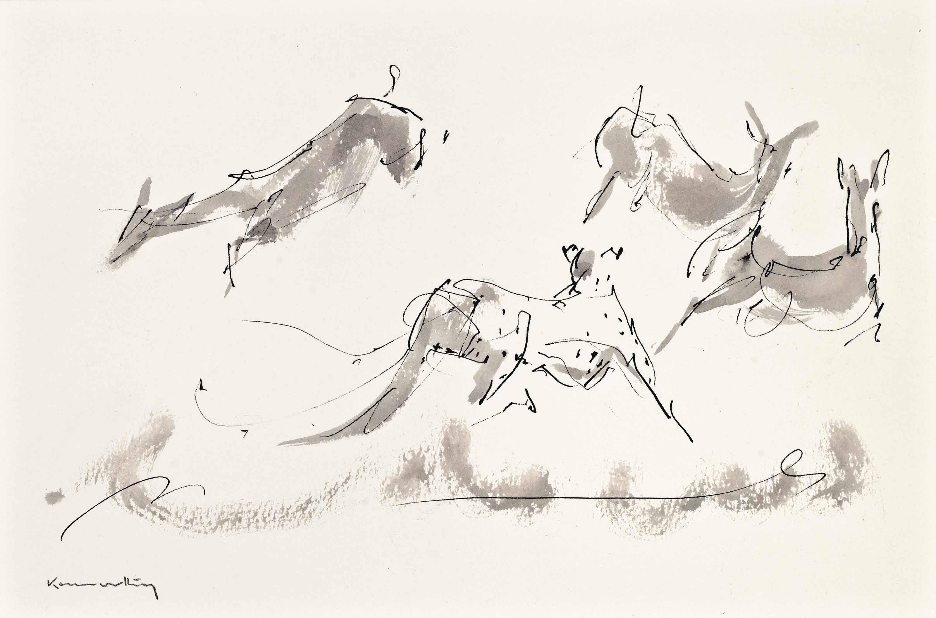 Cheetah chasing Gazelles