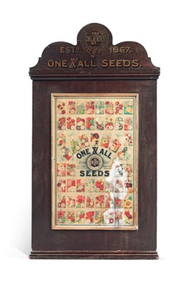 A LATE VICTORIAN WOODEN SEED D