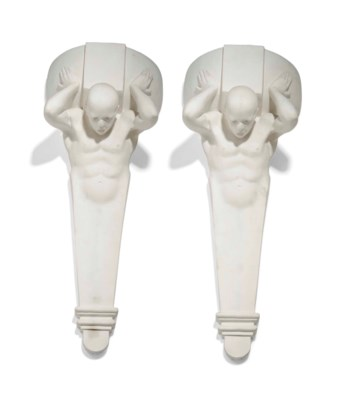 A PAIR OF REINFORCED PLASTER C