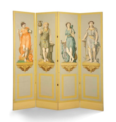A NEO-CLASSICAL PAINTED SCREEN