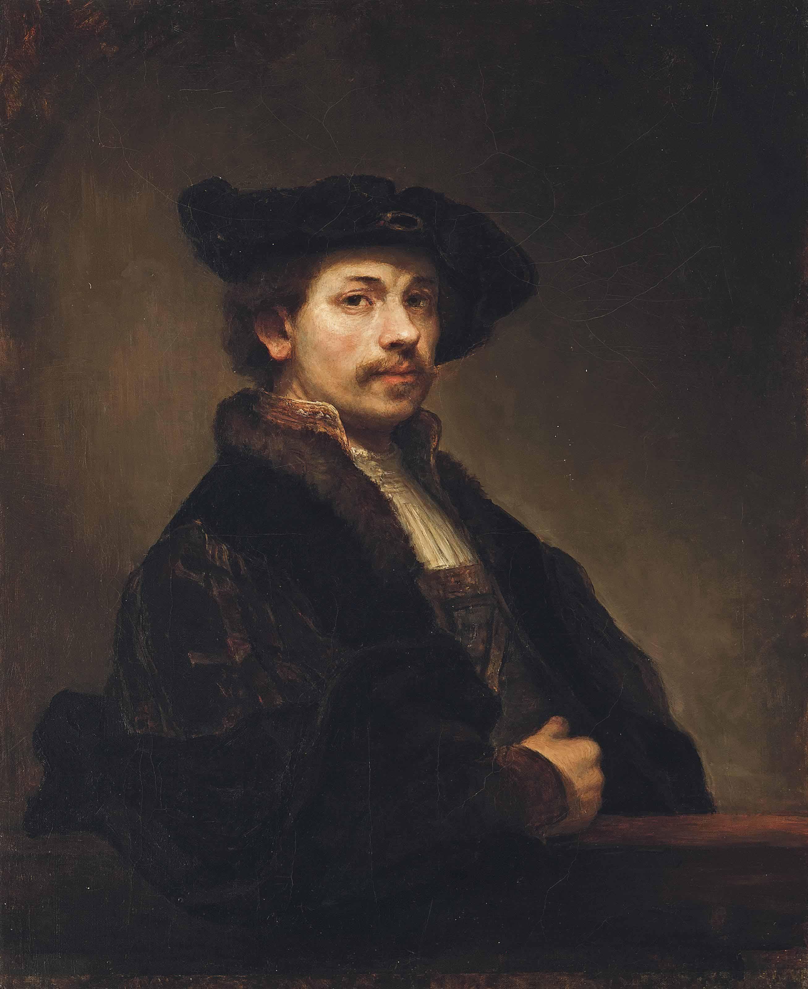 A portrait of Rembrandt Harmensz. van Rijn at the age of 34