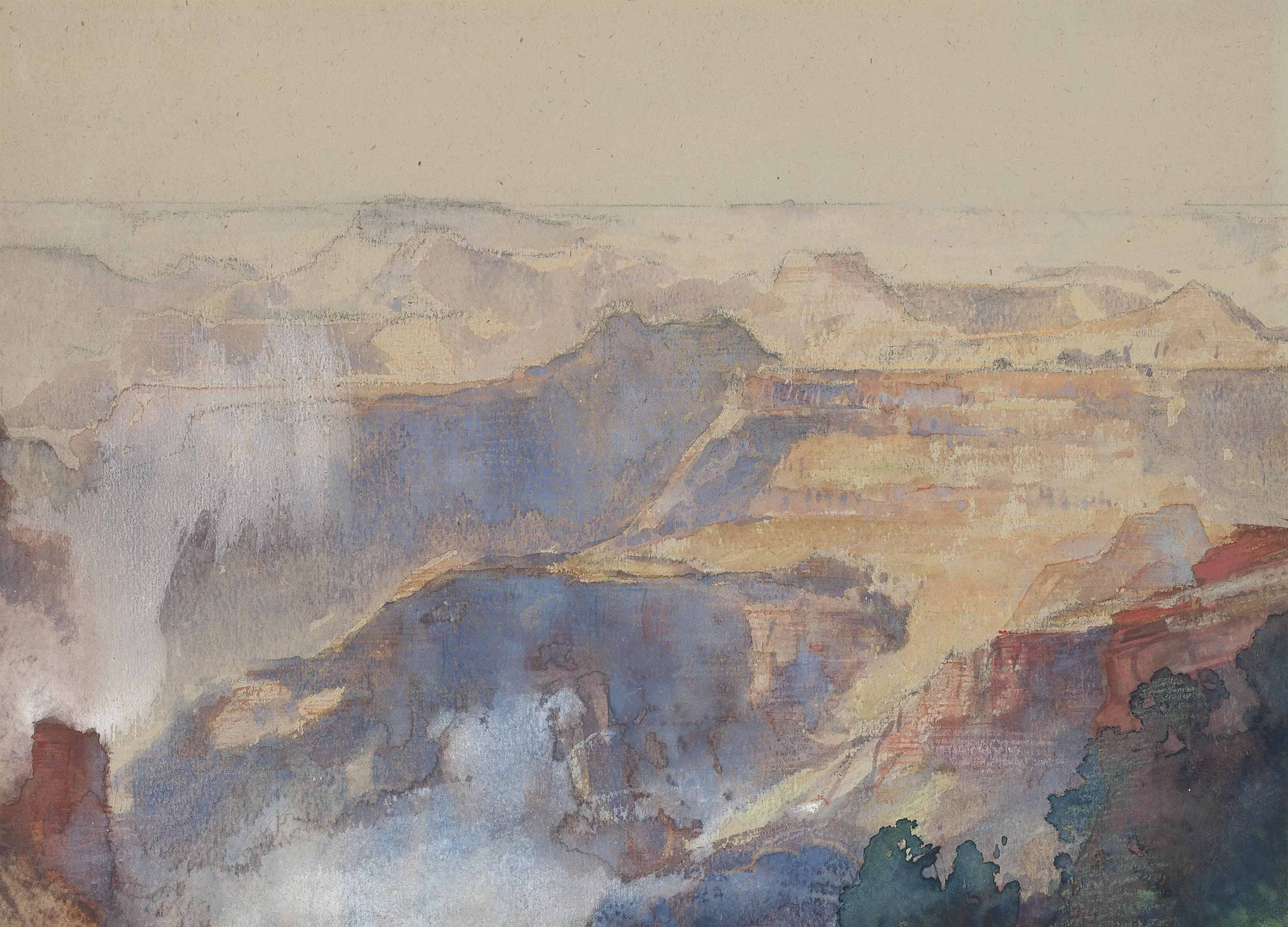 Above the Kaibab twist, Grand Canyon, America