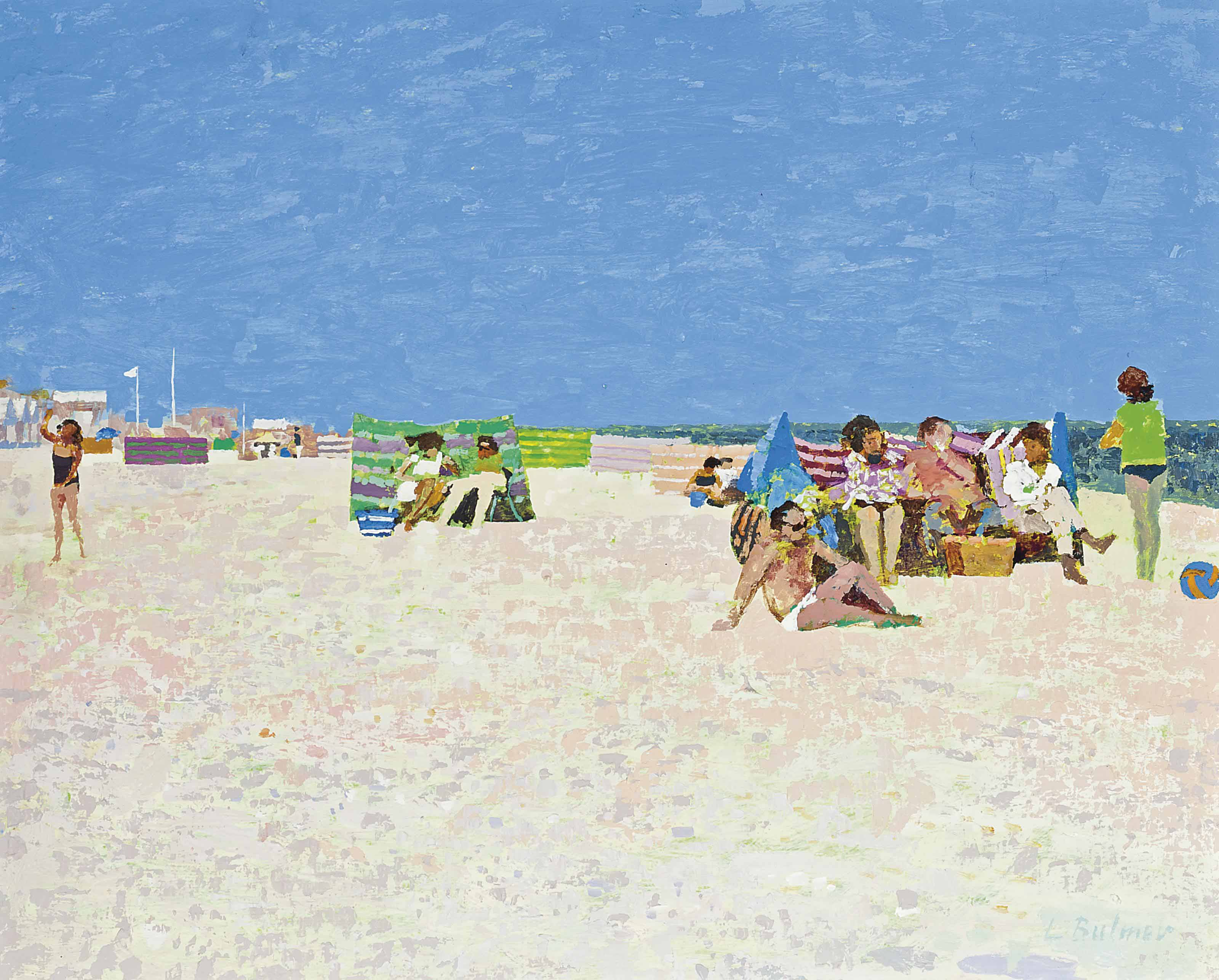 Windbreaks on the beach