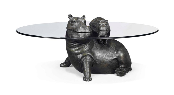Mark stoddart 39 mother baby hippo occasional table for Hippo table for sale