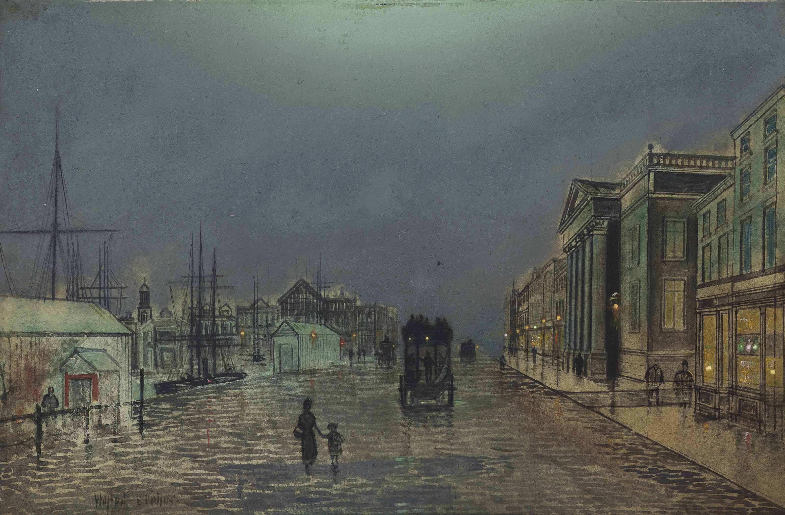 After Rain, Liverpool (illustrated); and Fish Quay, Whitby
