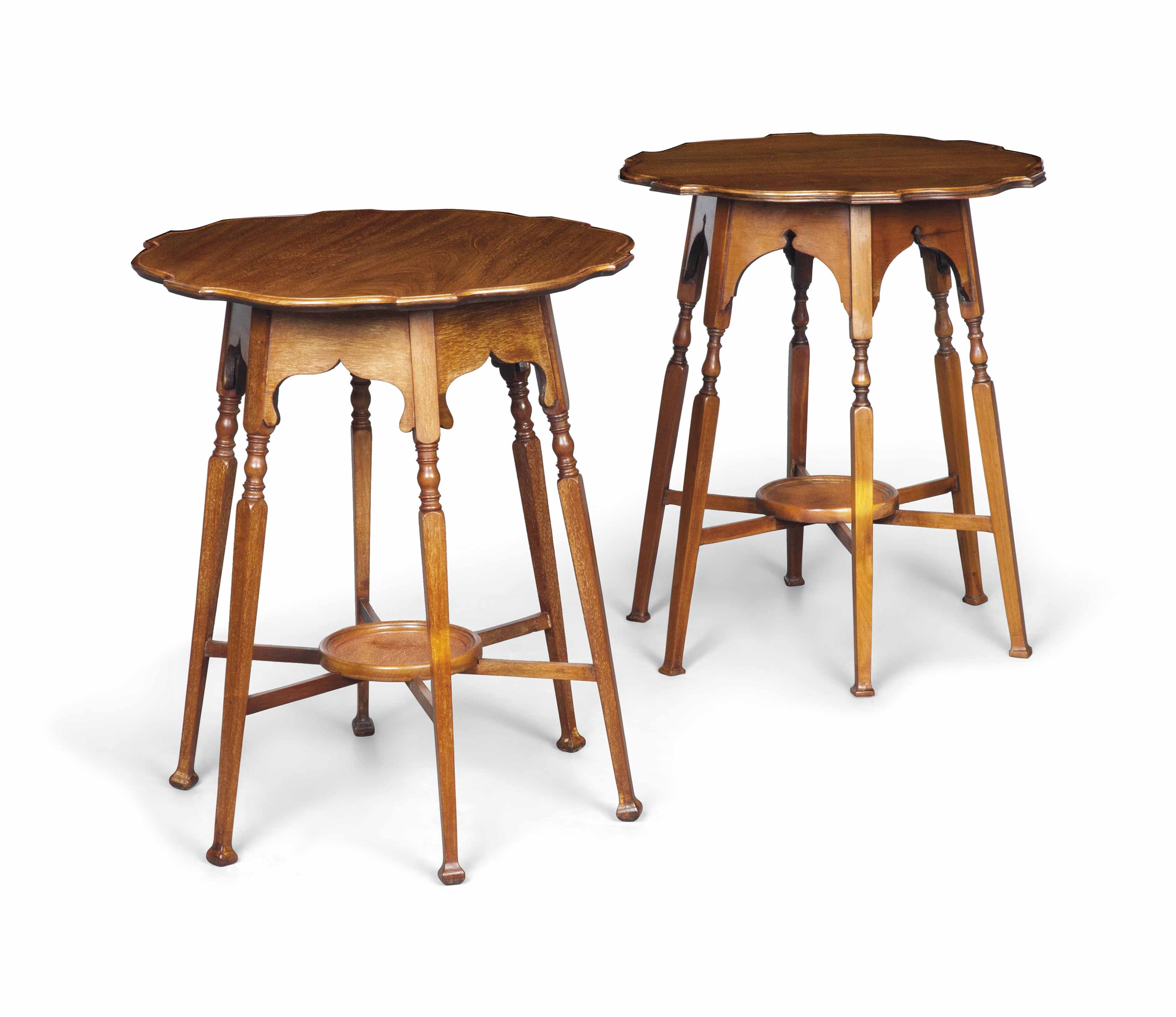 A MATCHED PAIR OF LATE VICTORIAN MAHOGANY OCCASIONAL TABLES