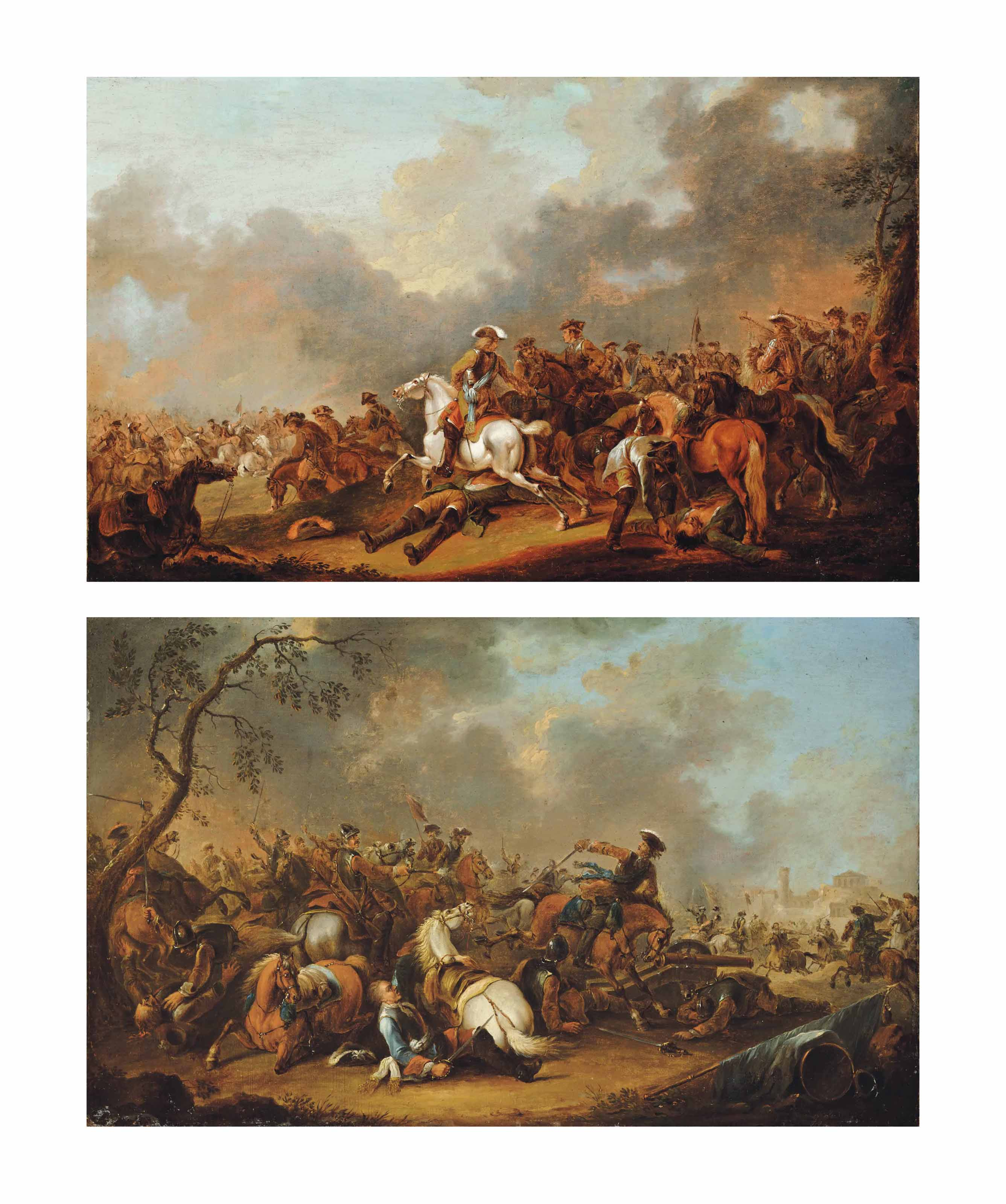 A cavalry skirmish; and A siege of a city