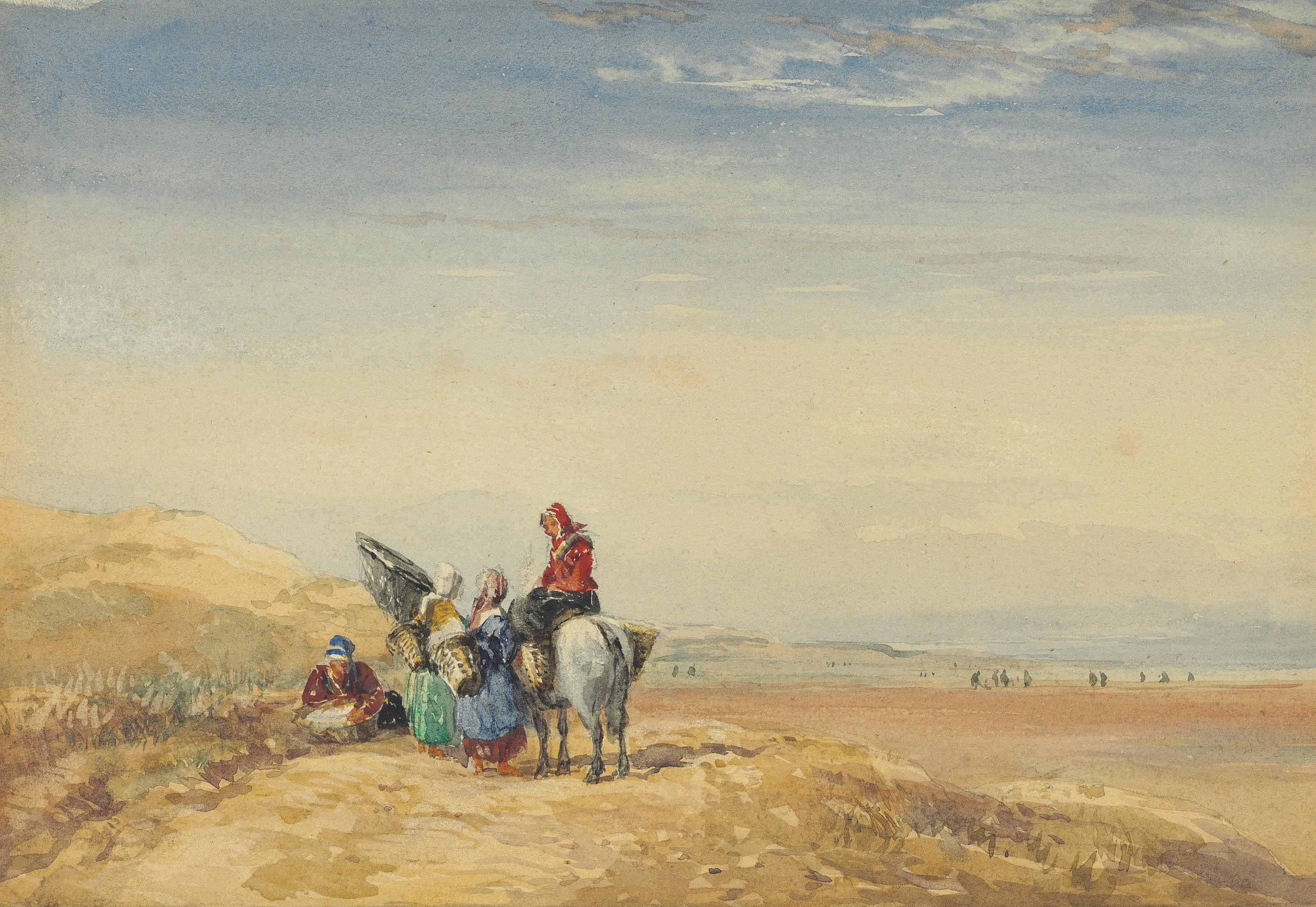 Shrimpers on Lancaster Sands