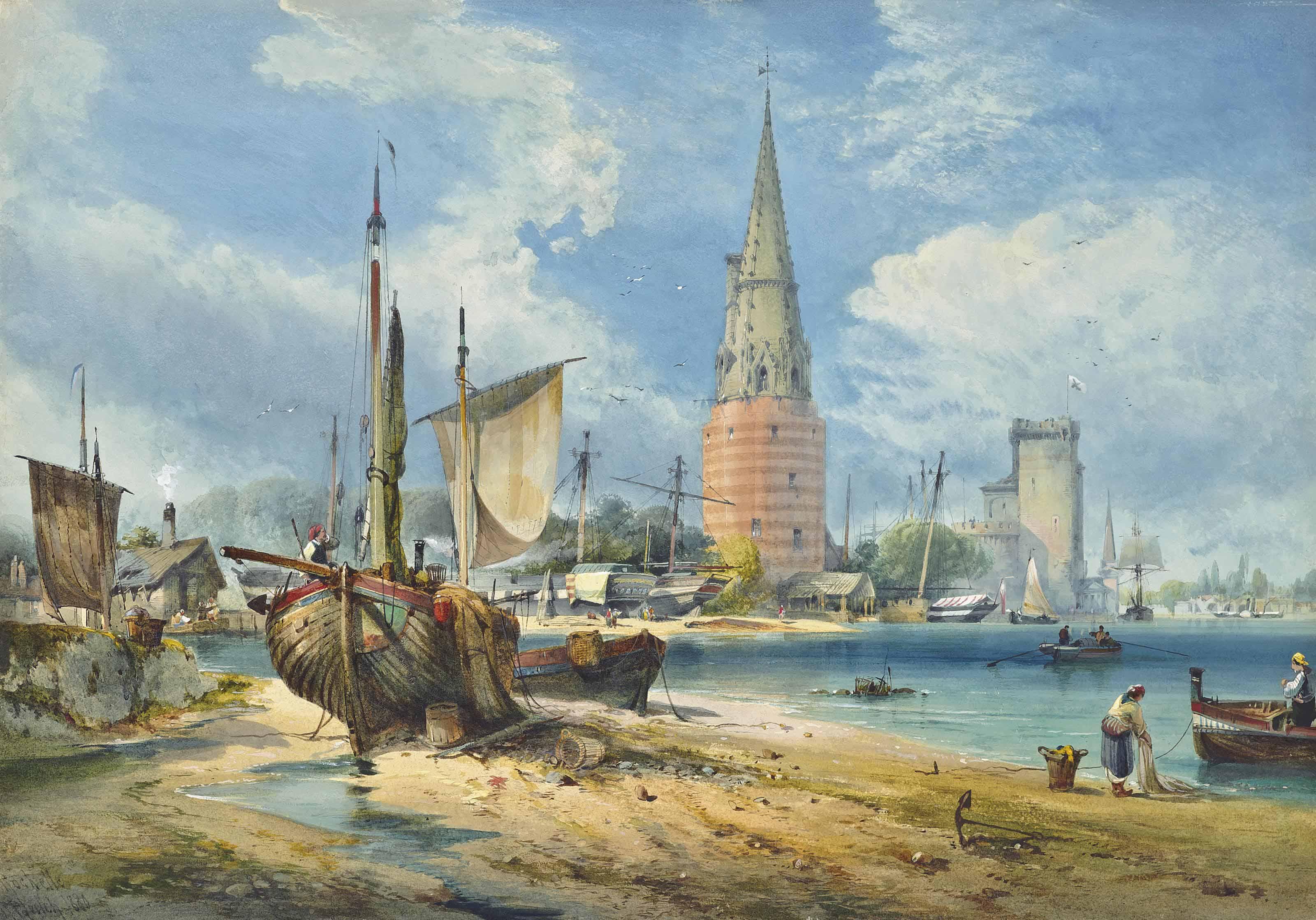 The harbour at La Rochelle, France