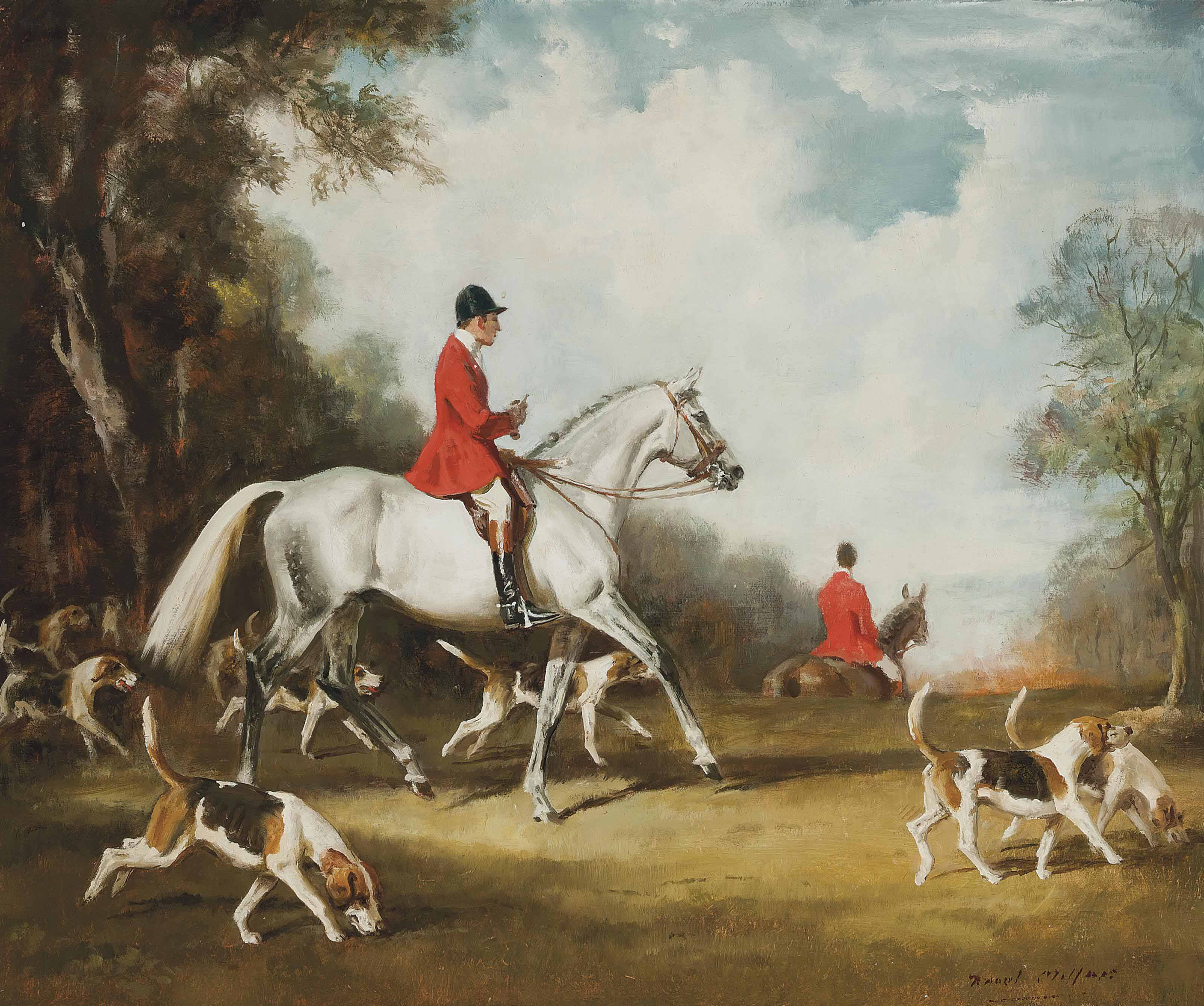 Huntsman and hounds