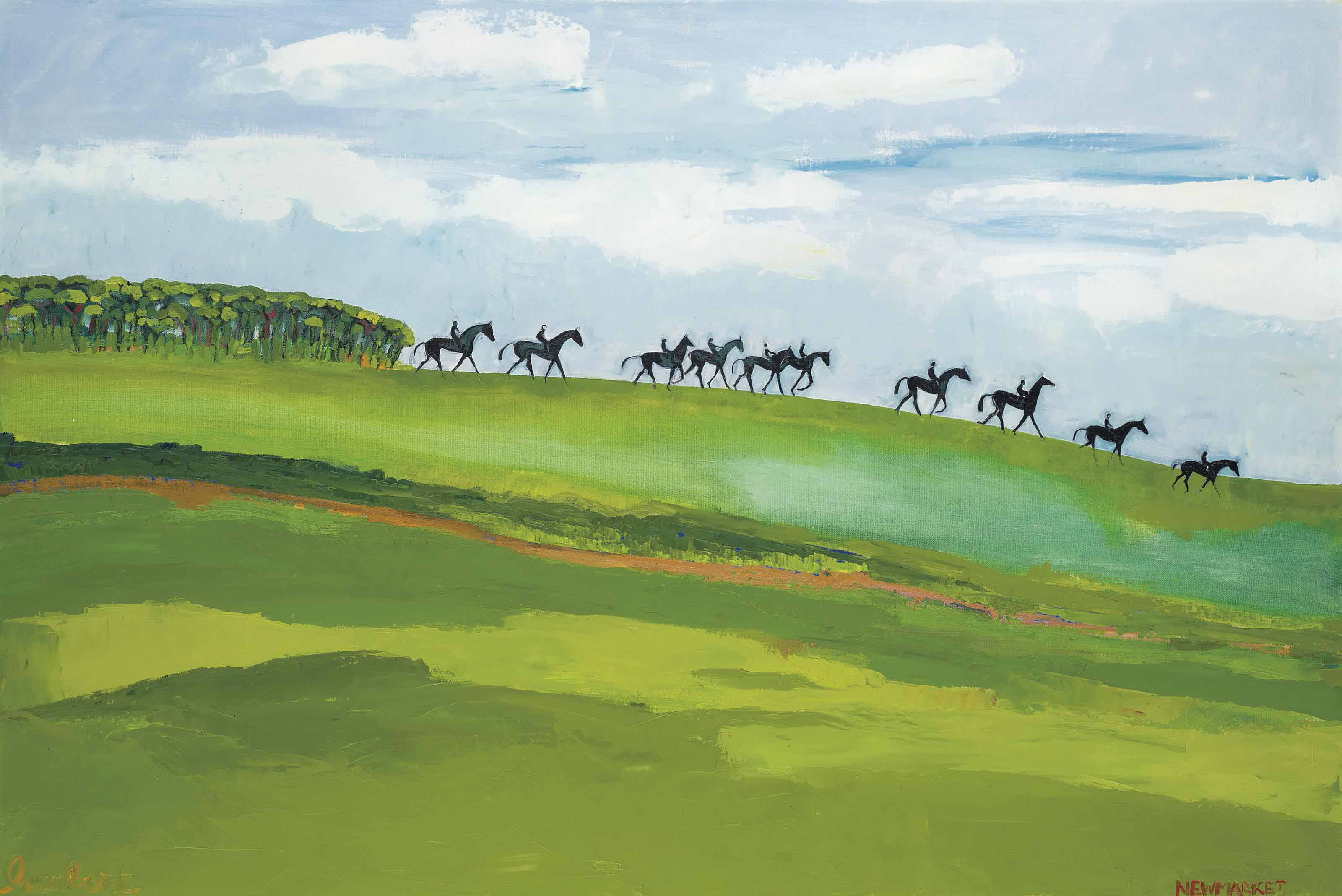 Going down to the gallops, Newmarket