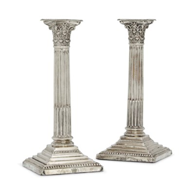 A PAIR OF EDWARDIAN SILVER COR